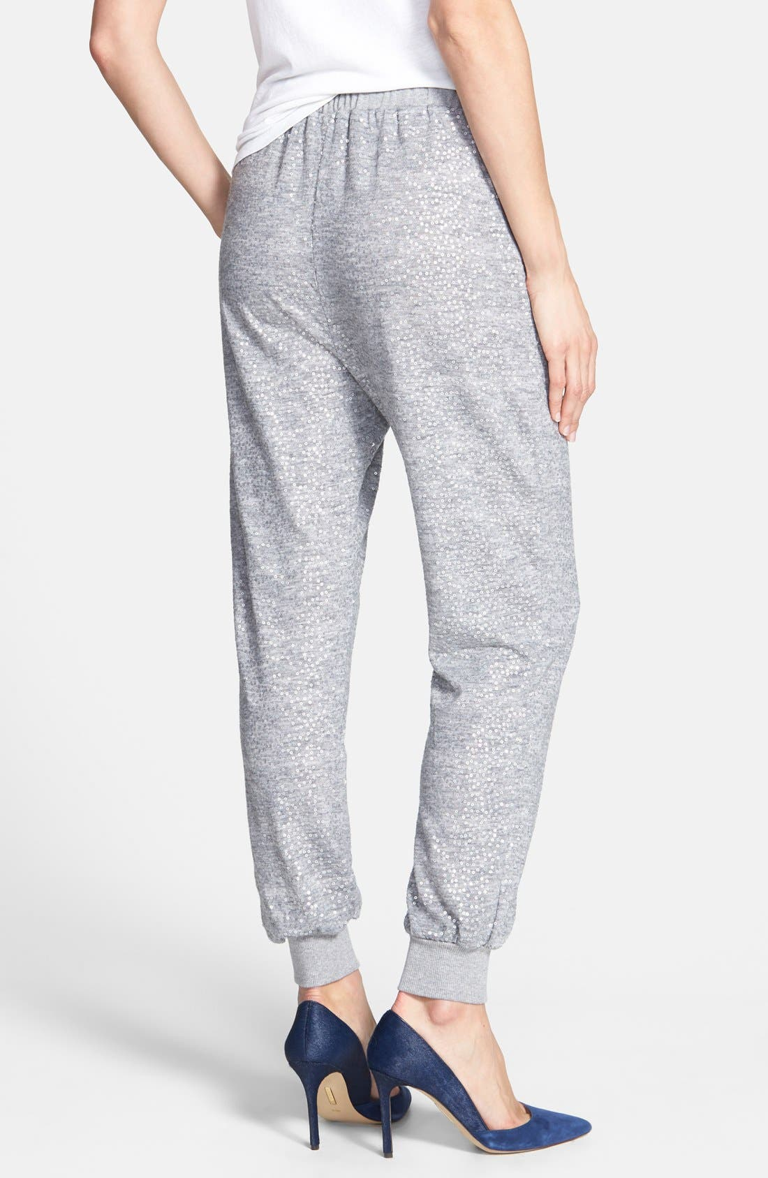 Sequin Track Pants,                             Alternate thumbnail 2, color,                             Grey