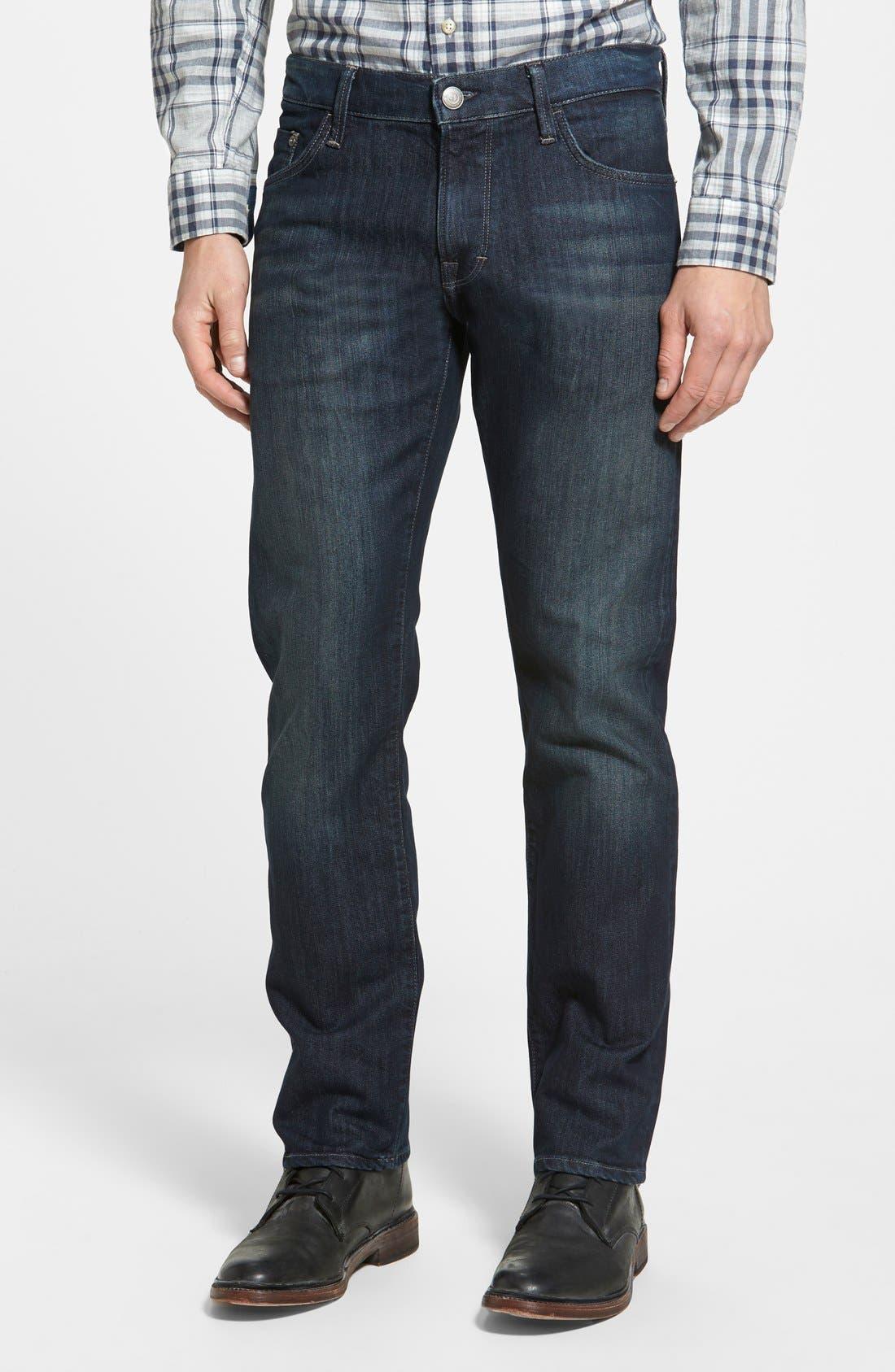 Mavi 'Zach' Straight Leg Jeans (Deep Stanford)