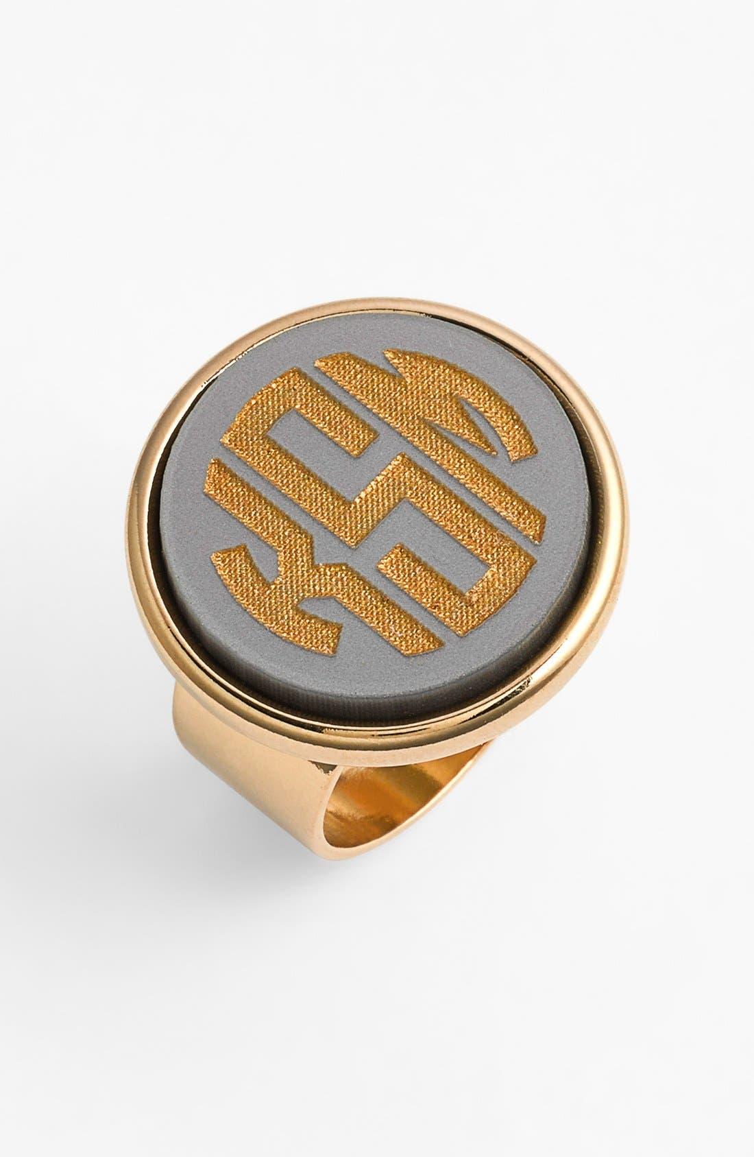Main Image - Moon and Lola 'Vineyard' Personalized Monogram Ring