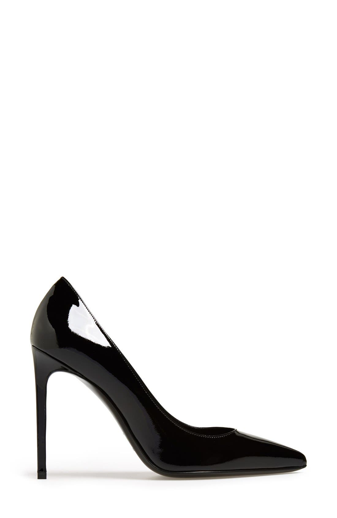'Paris Skinny' Pointy Toe Pump,                             Alternate thumbnail 4, color,                             Black