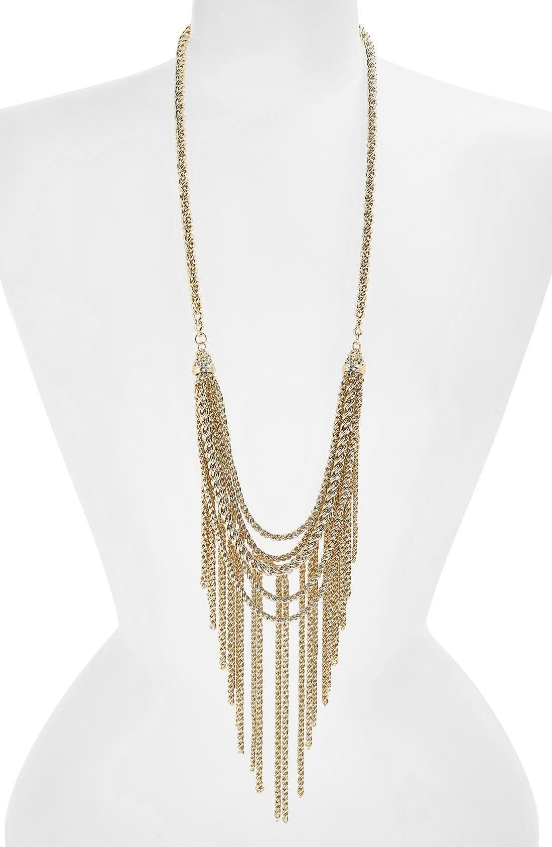 Alternate Image 1 Selected - Kendra Scott 'Landry' Long Chain Fringed Necklace