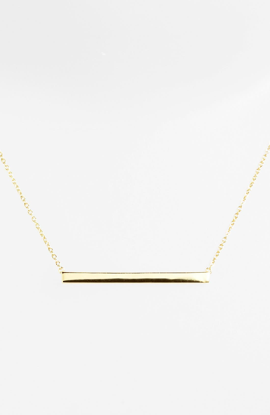 Alternate Image 1 Selected - Argento Vivo Bar Pendant Necklace