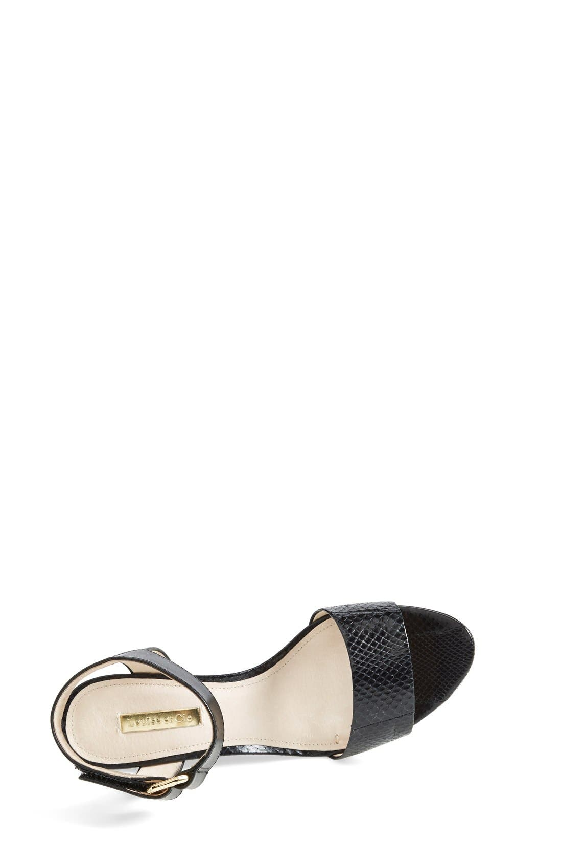 Alternate Image 3  - Louise et Cie 'Phiona' Leather Ankle Strap Wedge Sandal (Women)