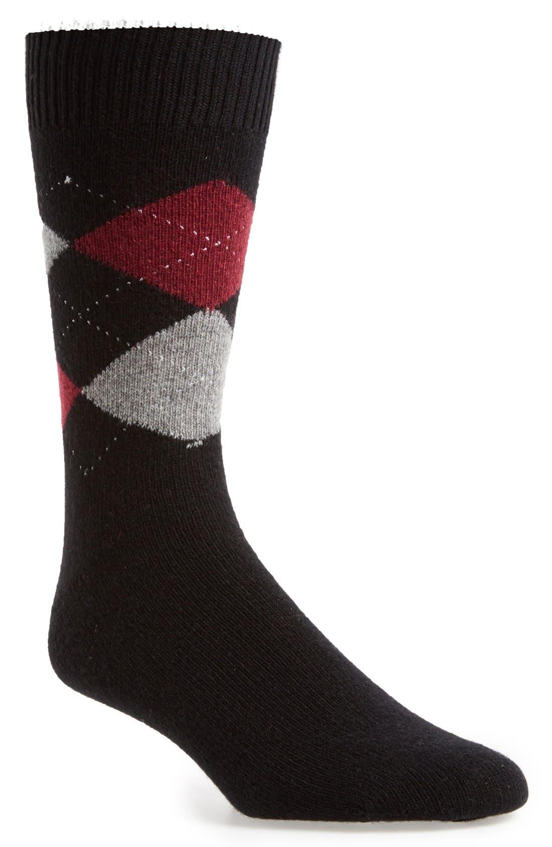 Alternate Image 1 Selected - John W. Nordstrom® Argyle Cashmere Socks