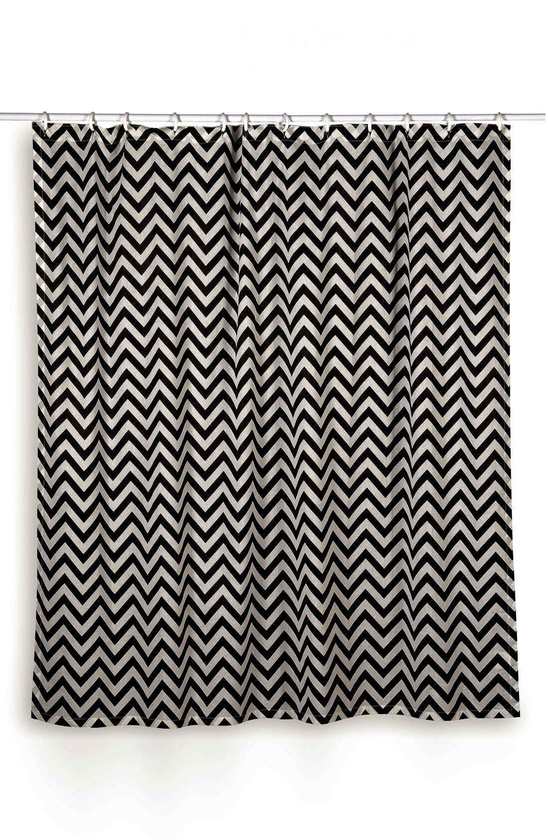 Main Image - Rizzy Home Chevron Shower Curtain