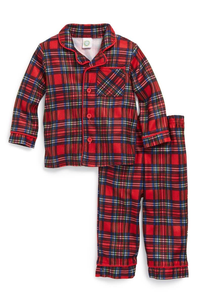 christmas plaid two piece pajamas - Plaid Christmas Pajamas