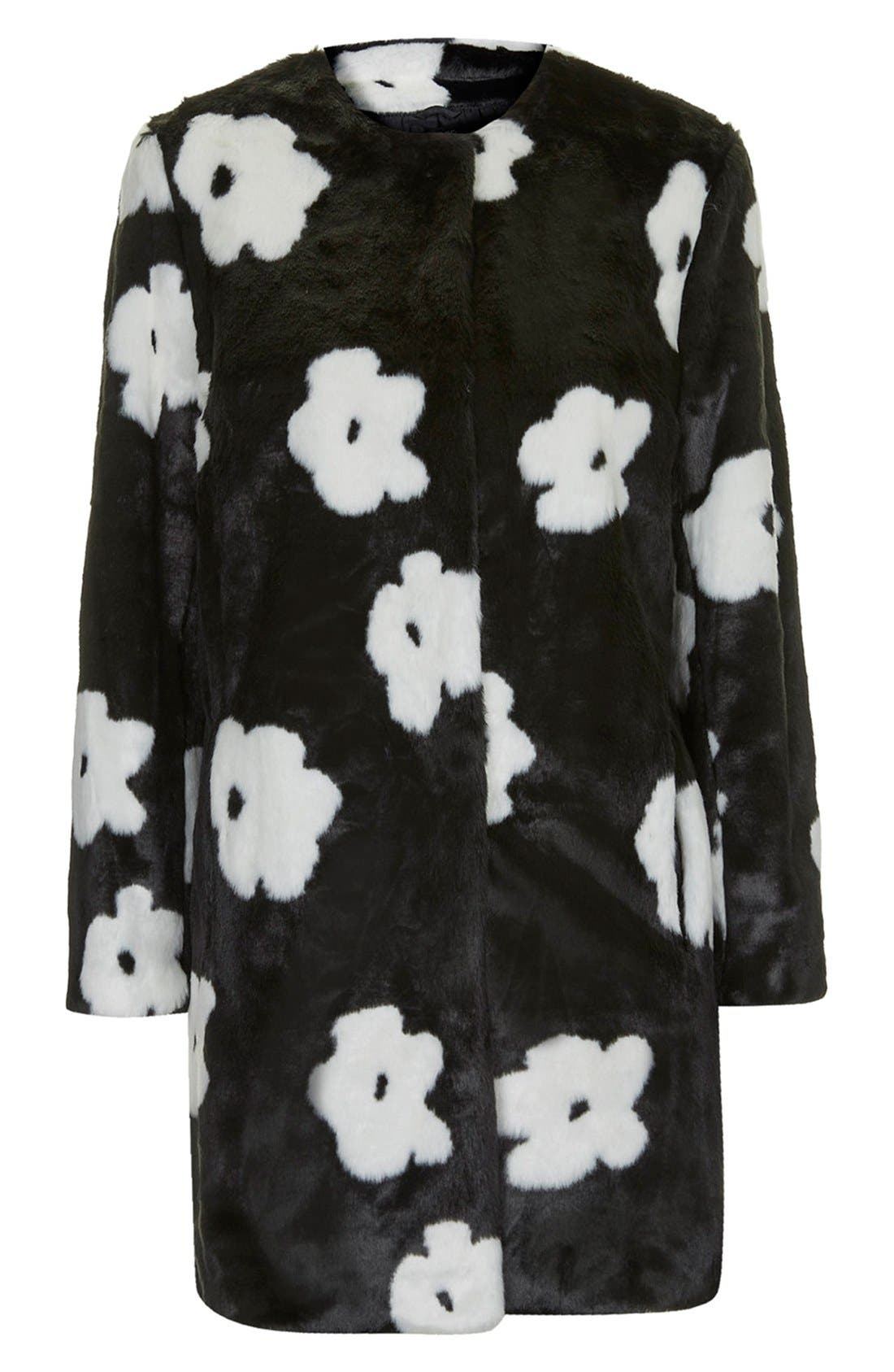 Alternate Image 3  - Topshop Daisy Faux Fur Coat