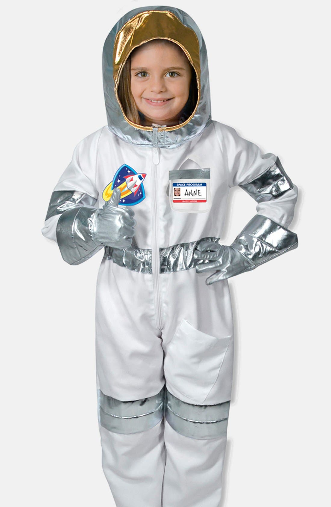 Astronaut Role Play Set,                             Alternate thumbnail 4, color,                             Metallic Silver