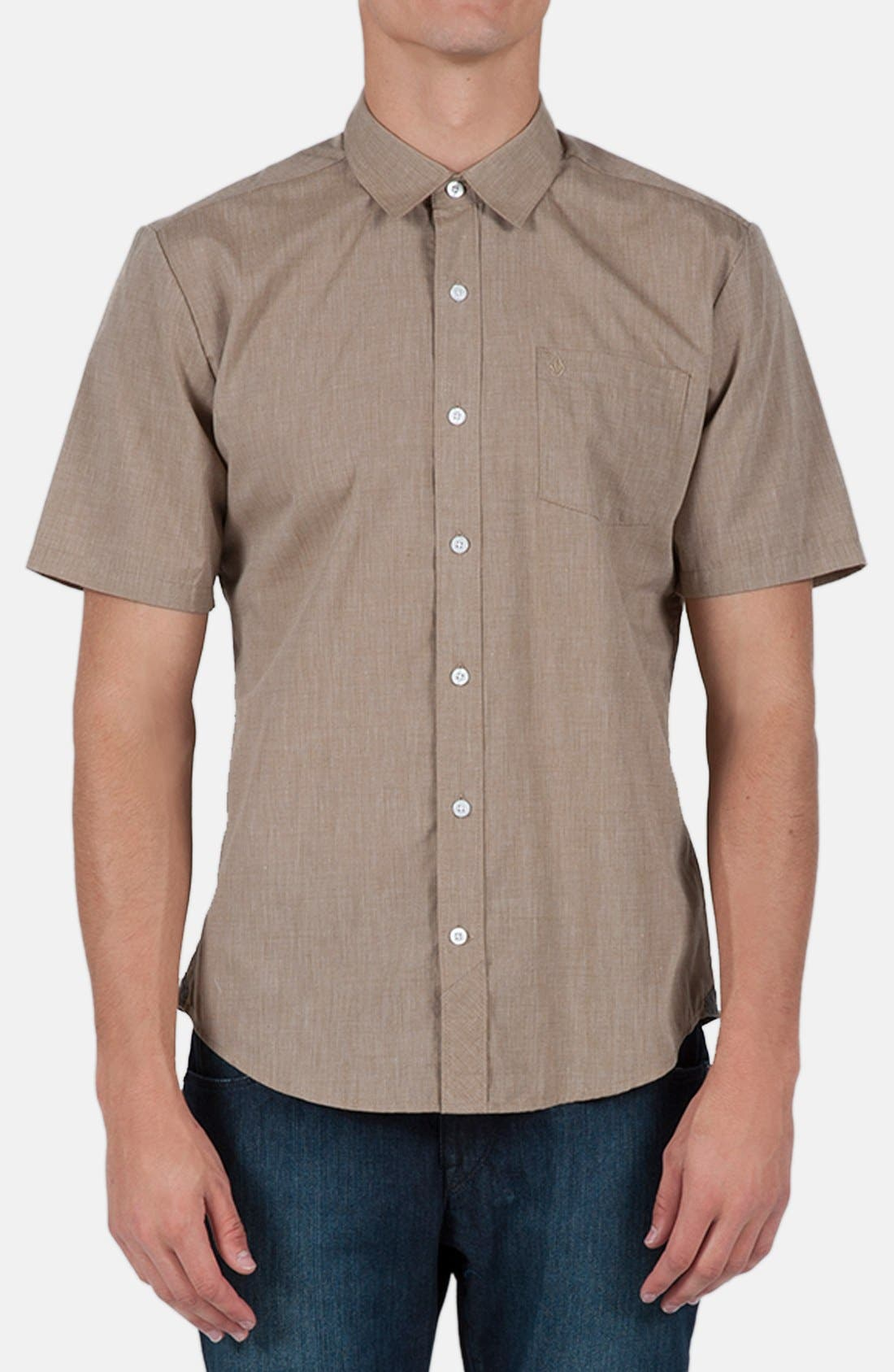 Alternate Image 1 Selected - Volcom 'Weirdoh' Trim Fit Short Sleeve Woven Shirt