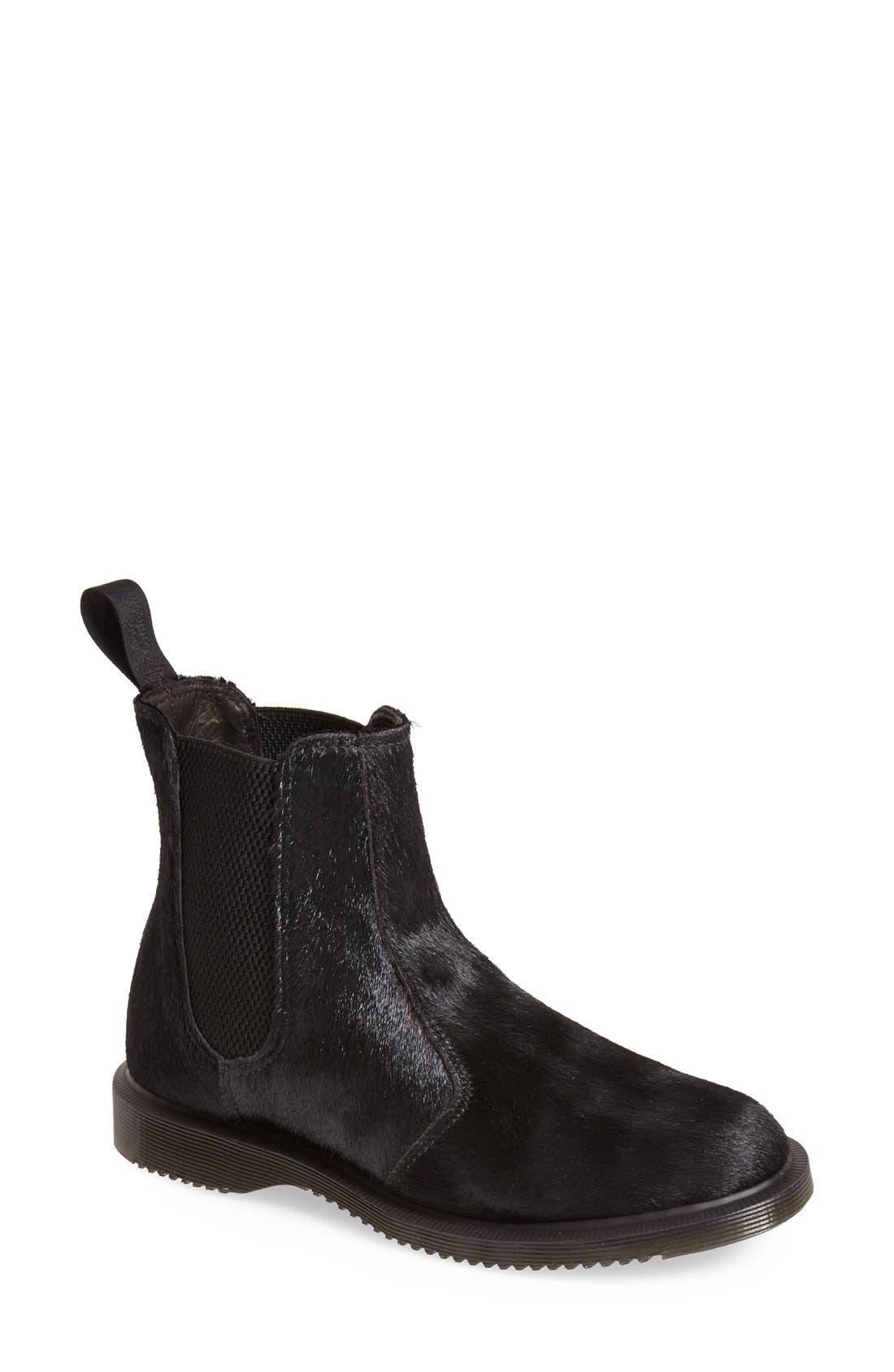 Main Image - Dr. Martens 'Flora' Calf Hair Chelsea Boot (Women)