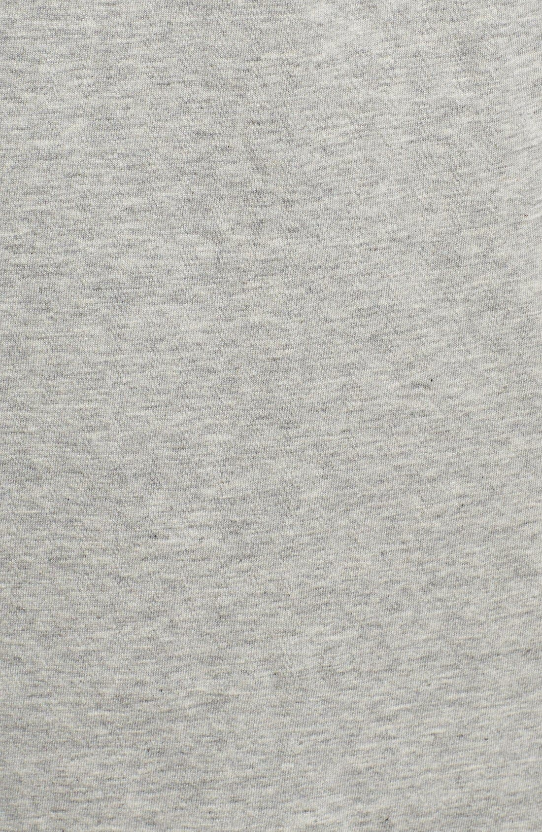 Assorted 3-Pack Classic Fit Cotton V-Neck T-Shirt,                             Alternate thumbnail 4, color,                             Heather Grey/ White/ Black