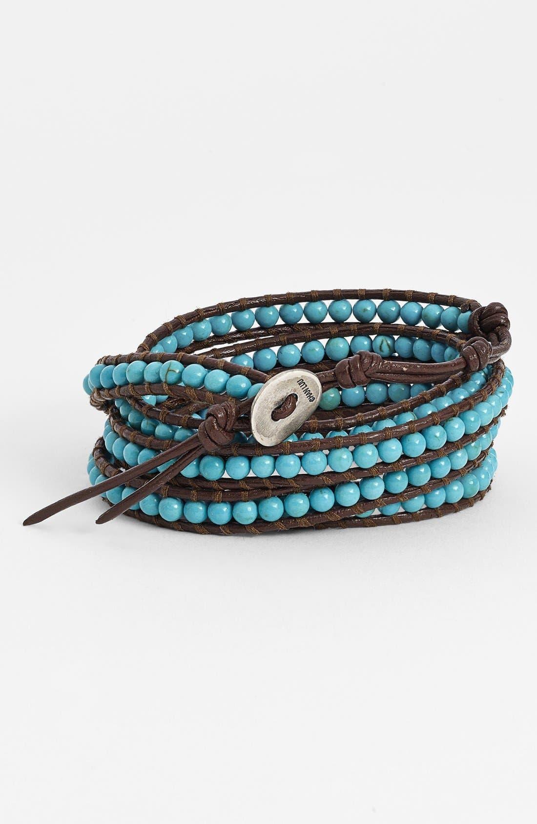 Main Image - Chan Luu Beaded Leather Wrap Bracelet