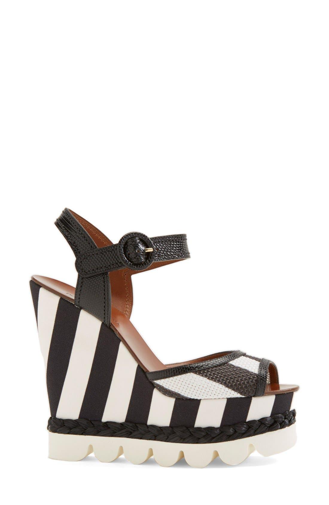 Alternate Image 4  - Dolce&Gabbana Stripe Platform Wedge Sandal (Women)