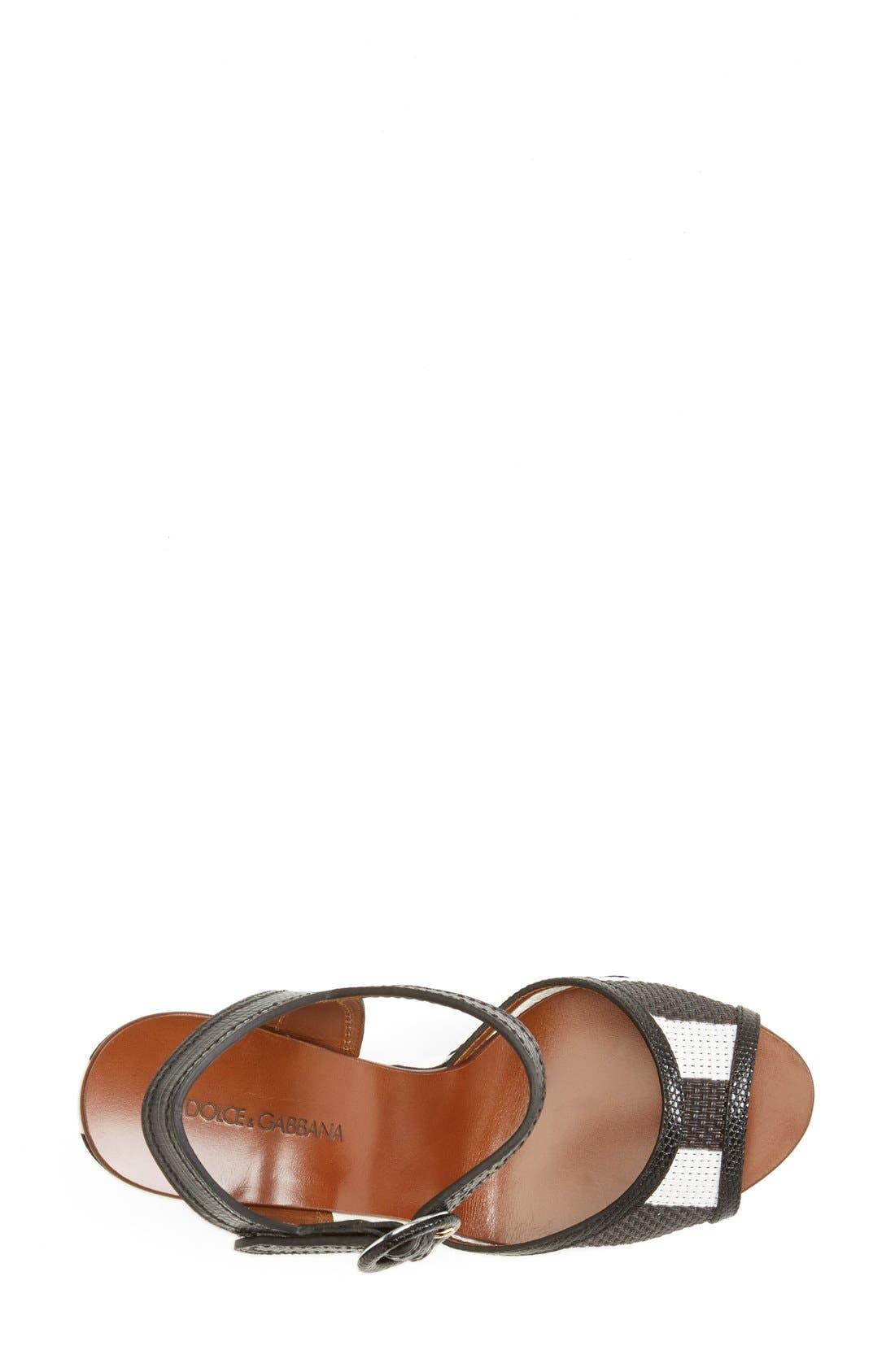 Alternate Image 3  - Dolce&Gabbana Stripe Platform Wedge Sandal (Women)