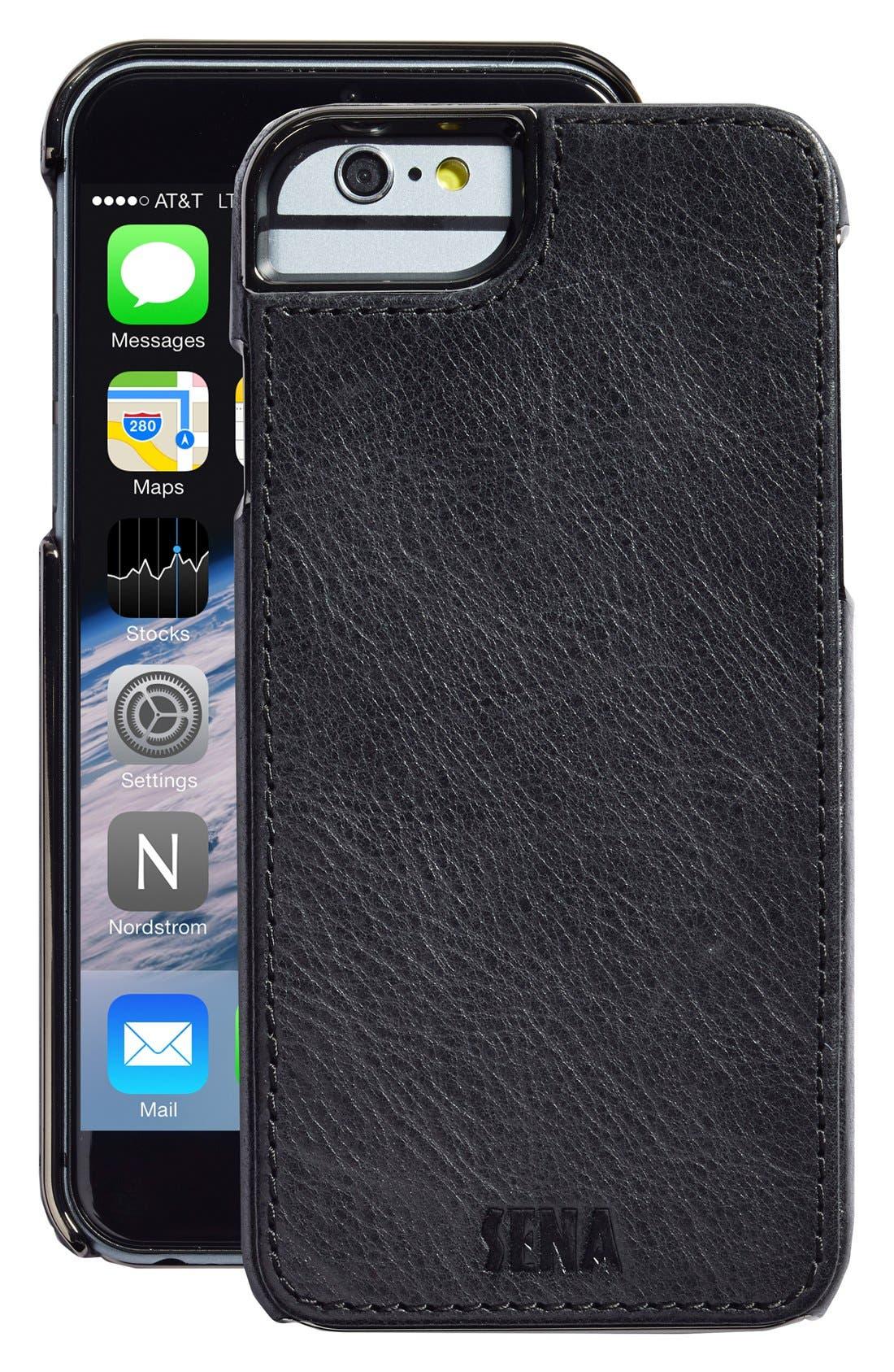 Alternate Image 1 Selected - Sena Heritage Lugano Leather iPhone 6/6s Case