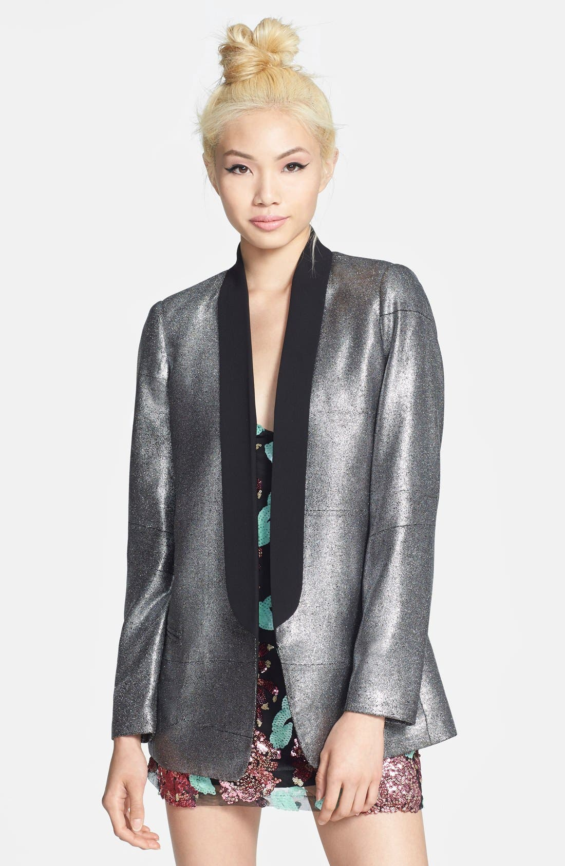 Alternate Image 1 Selected - Mural Slouchy Boyfriend Blazer