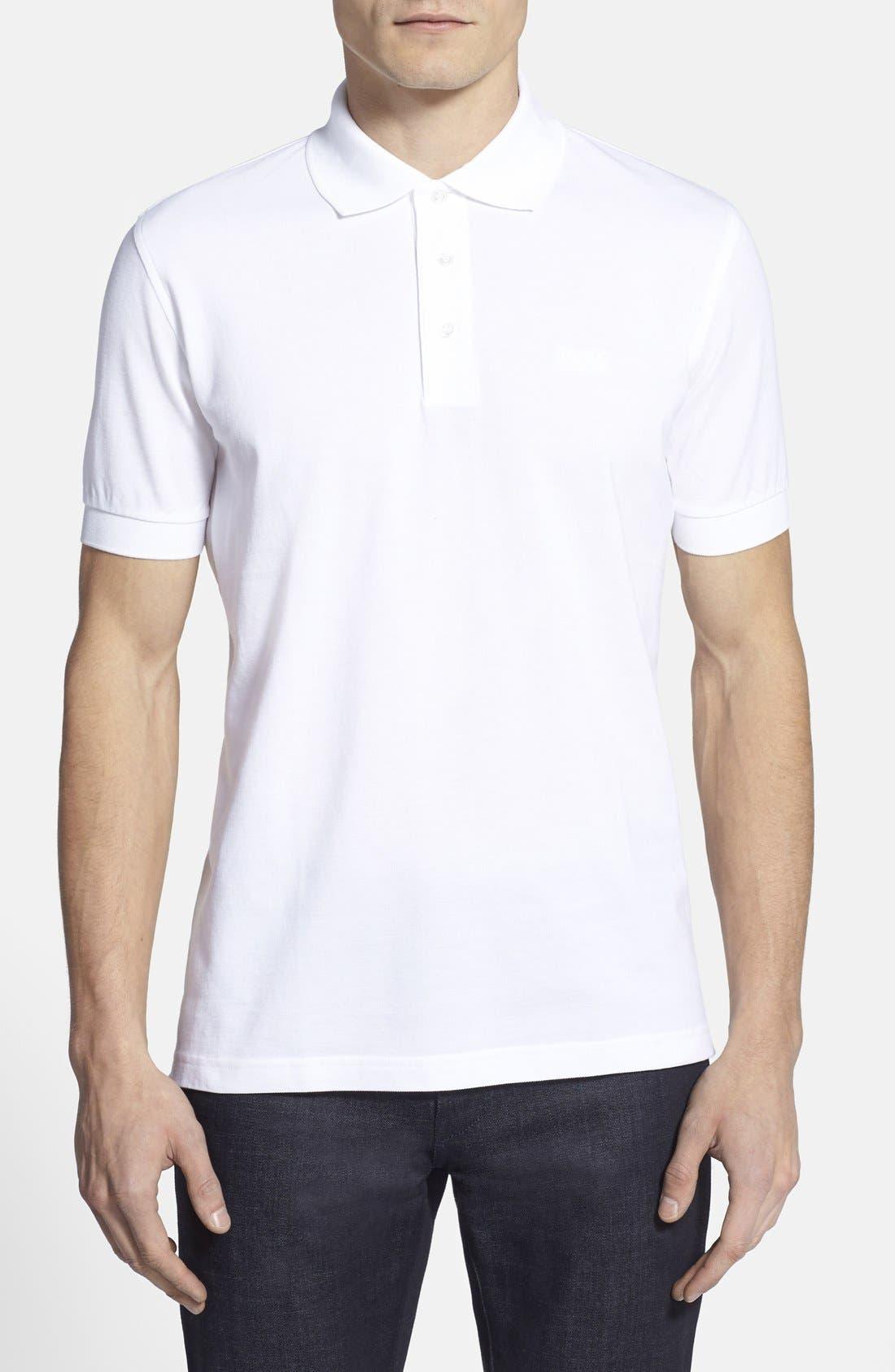 Main Image - BOSS 'Ferrara' Comfort Fit Piqué Polo (Online Only)