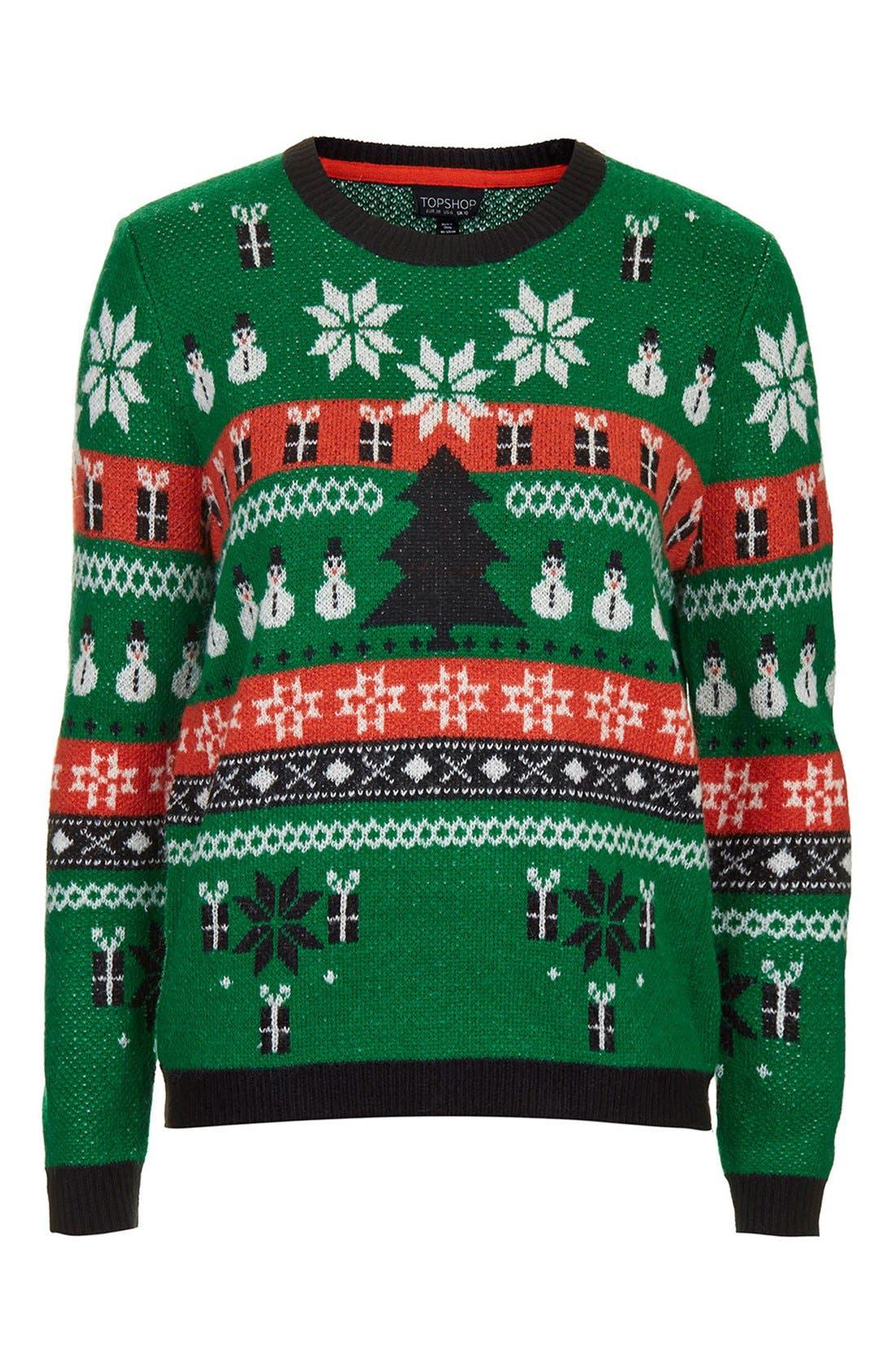 Alternate Image 3  - Topshop Holiday Fair Isle Sweater
