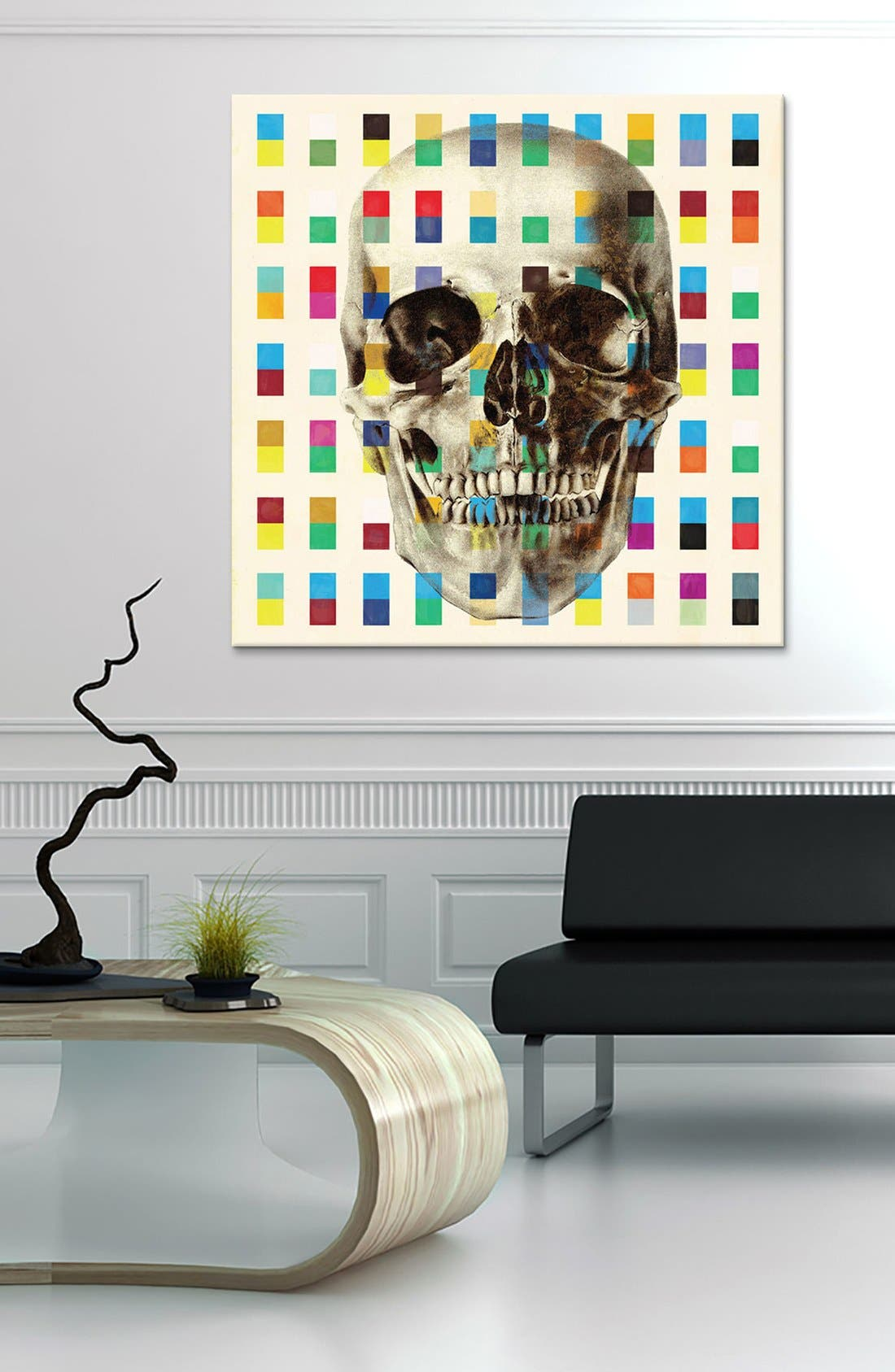 Alternate Image 2  - iCanvas 'White Skull Cubes - Fabrizio' Giclée Print Canvas Art