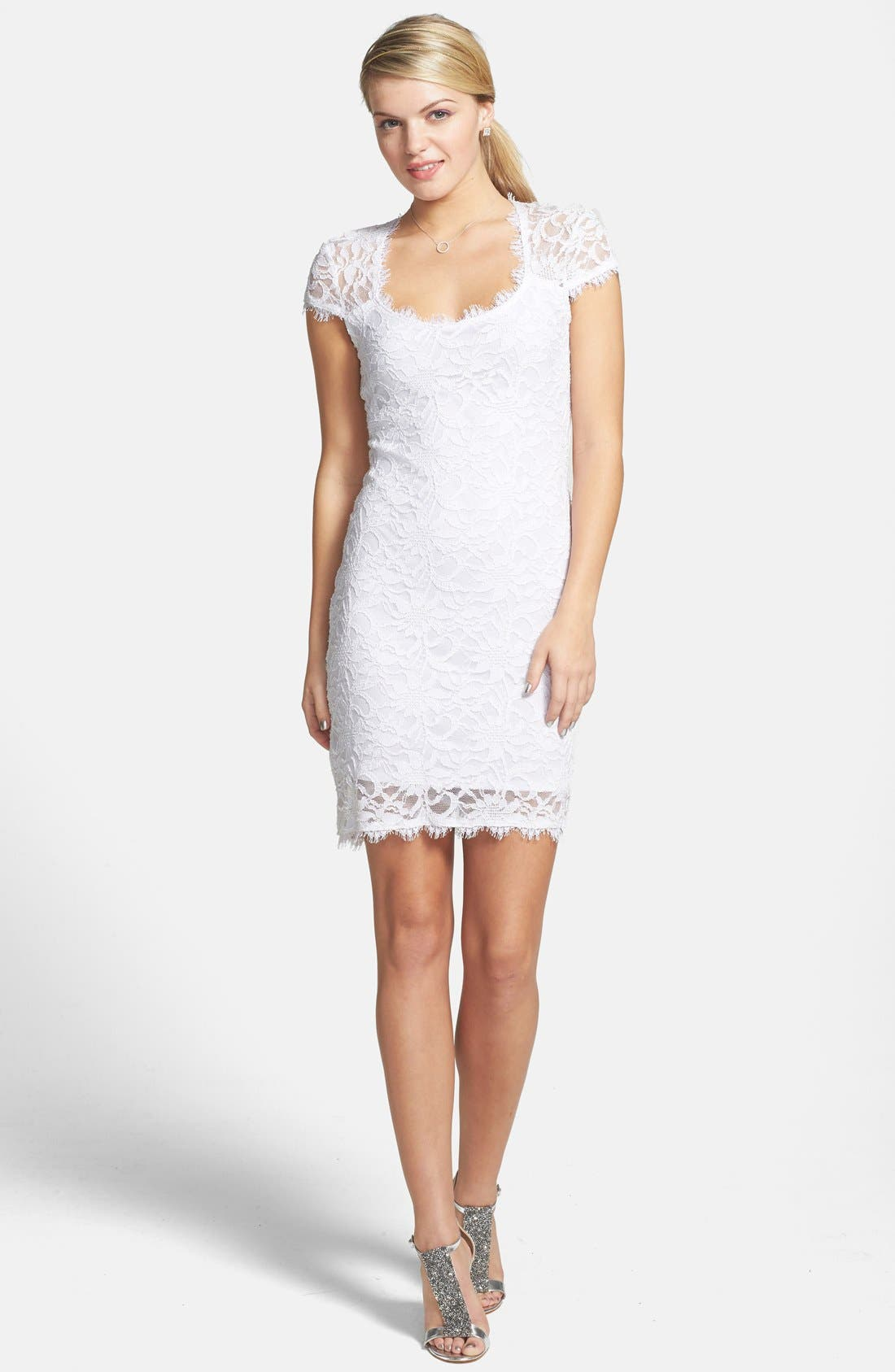 Alternate Image 1 Selected - Jump Apparel Cutout Lace Body-Con Dress