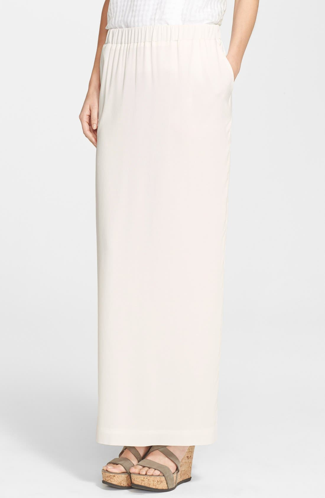 Alternate Image 1 Selected - Fabiana Filippi Silk Maxi Skirt