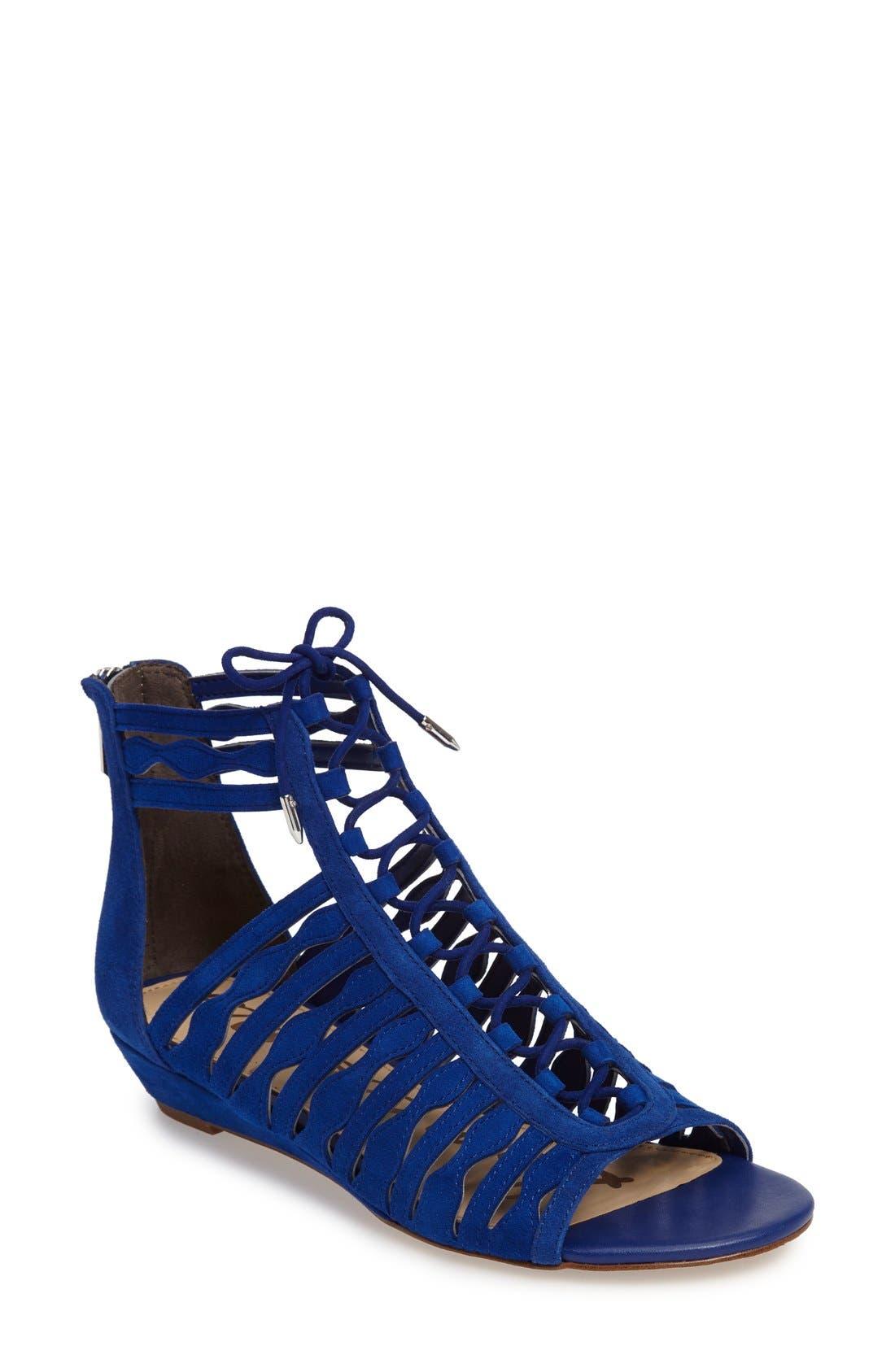 Alternate Image 1 Selected - Sam Edelman Daleece Lace-Up Sandal (Women)
