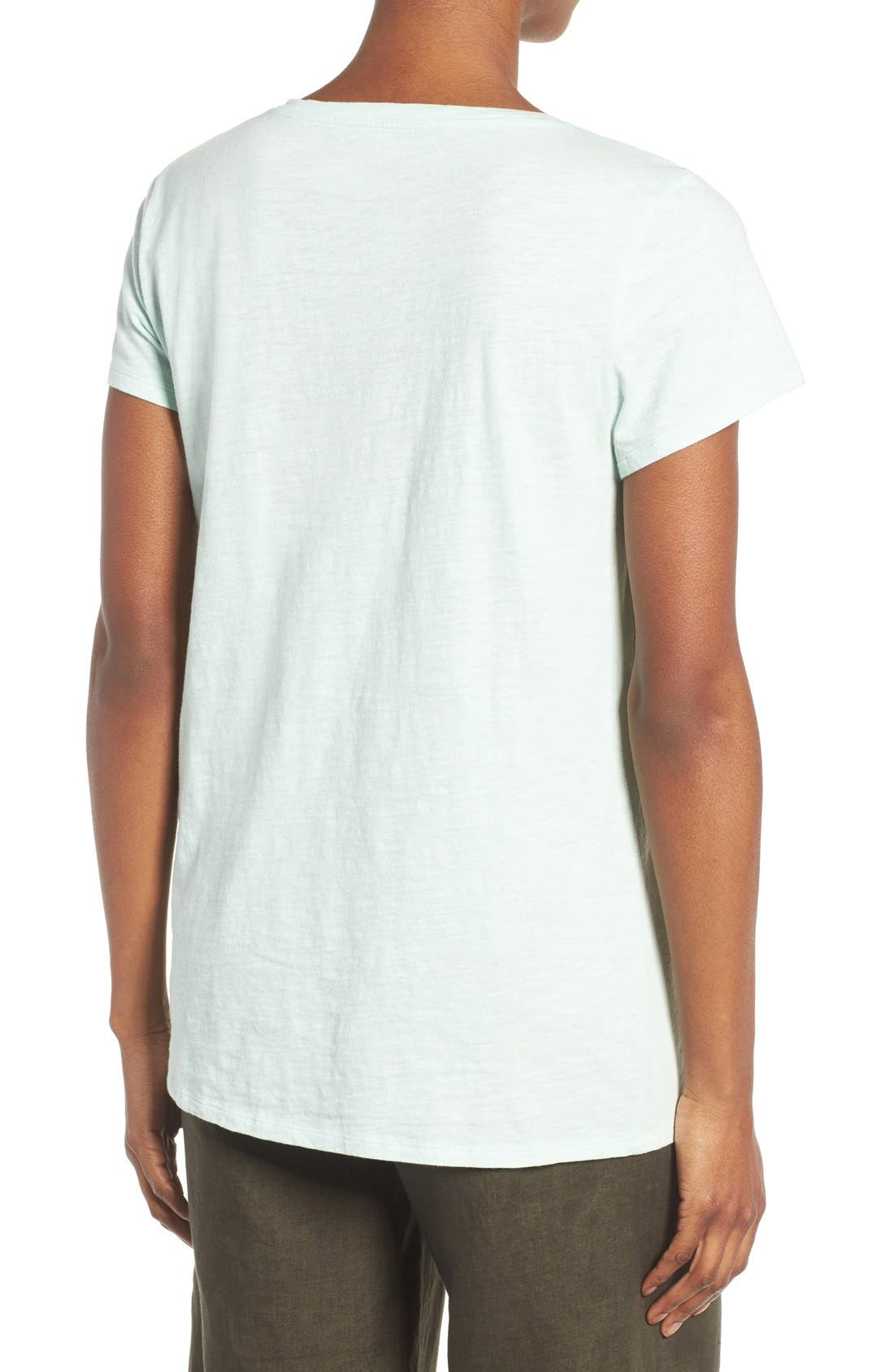 Alternate Image 2  - Eileen Fisher Organic Cotton V-Neck Tee (Regular & Petite) (Nordstrom Exclusive)