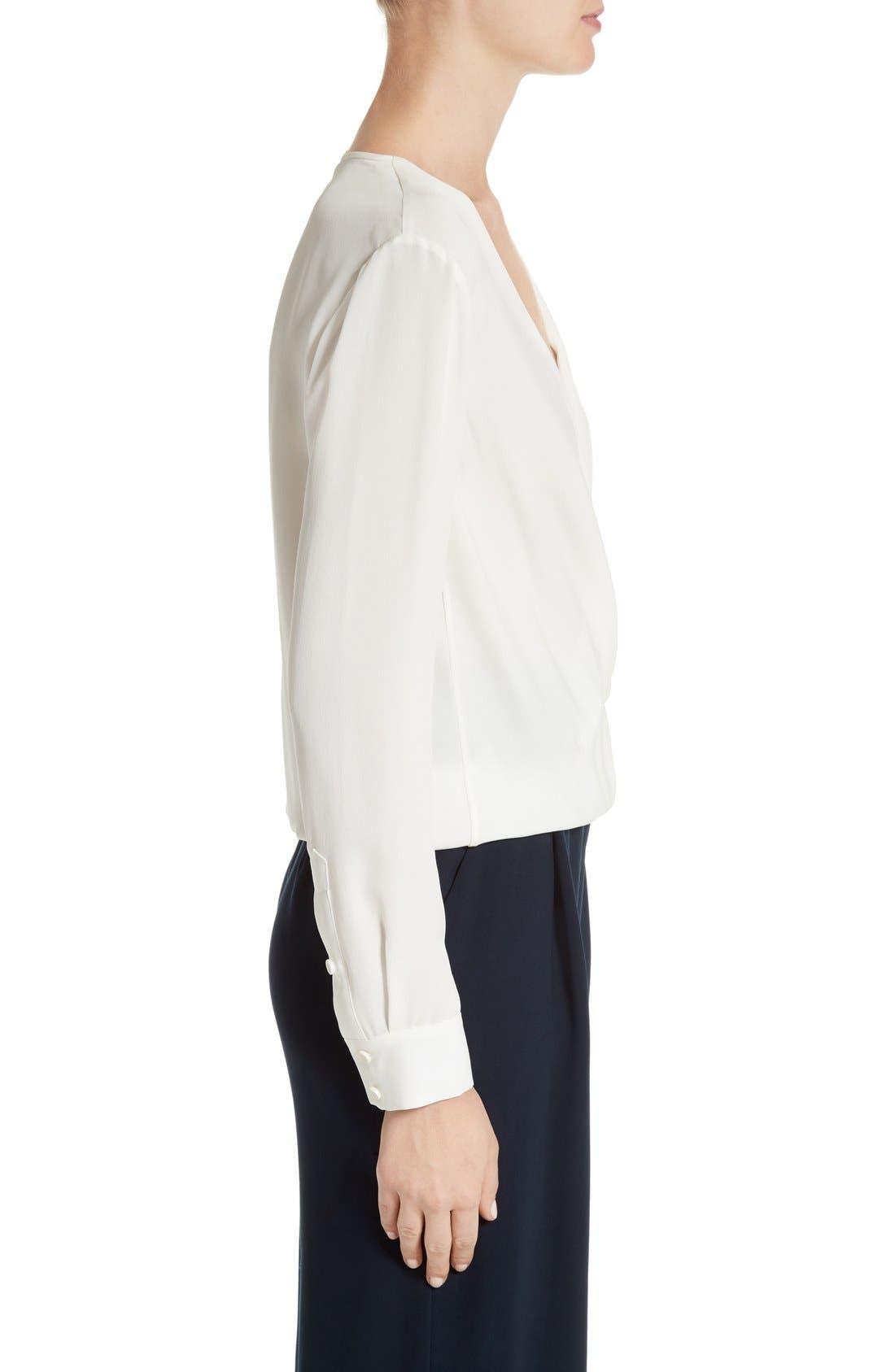 Alternate Image 3  - Diane von Furstenberg Marci Faux Wrap Silk Blouse