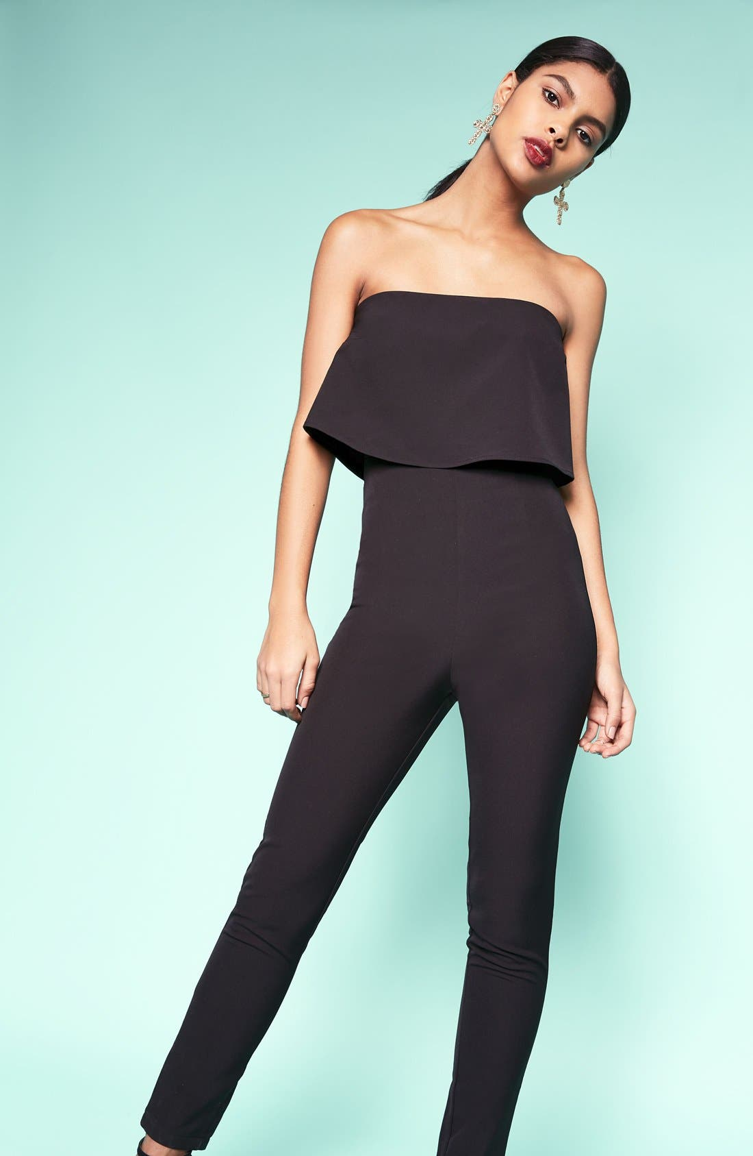 Alternate Image 2  - Missguided Strapless Jumpsuit