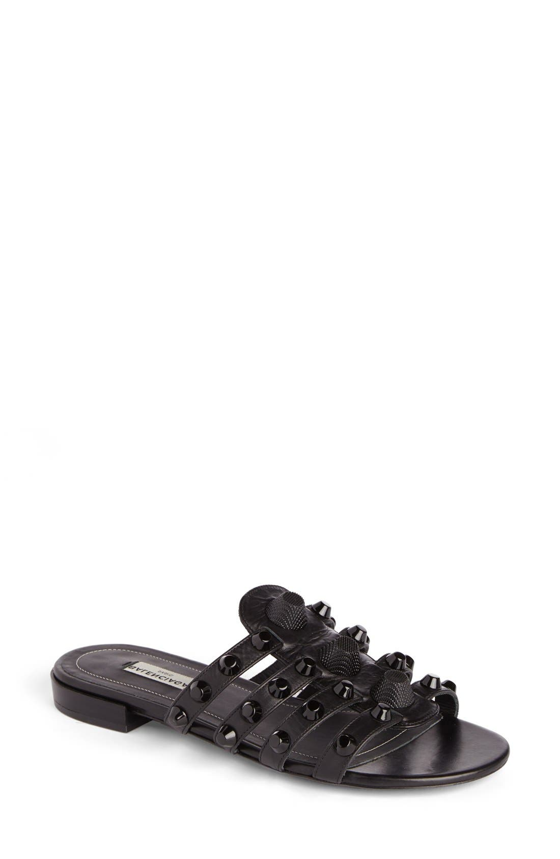 Balenciaga Studded Slip-On Sandal (Women)