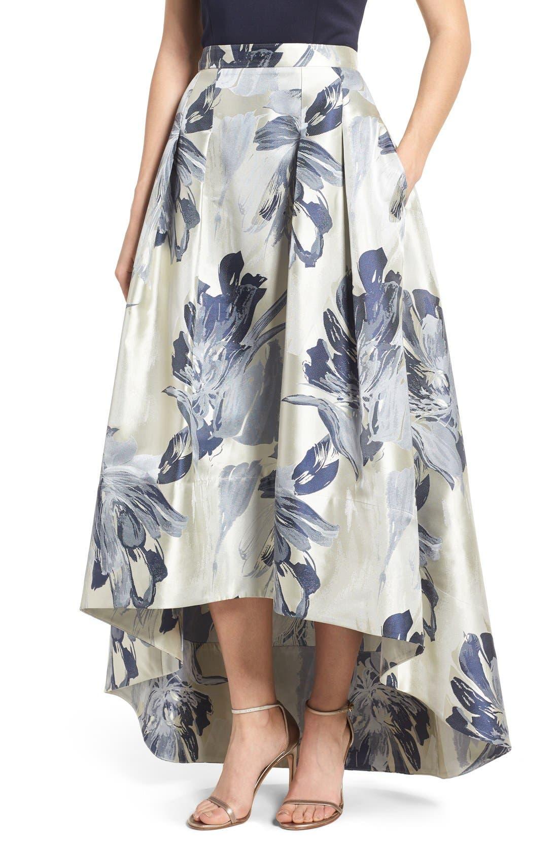 Alternate Image 1 Selected - Eliza J High/Low Ball Skirt