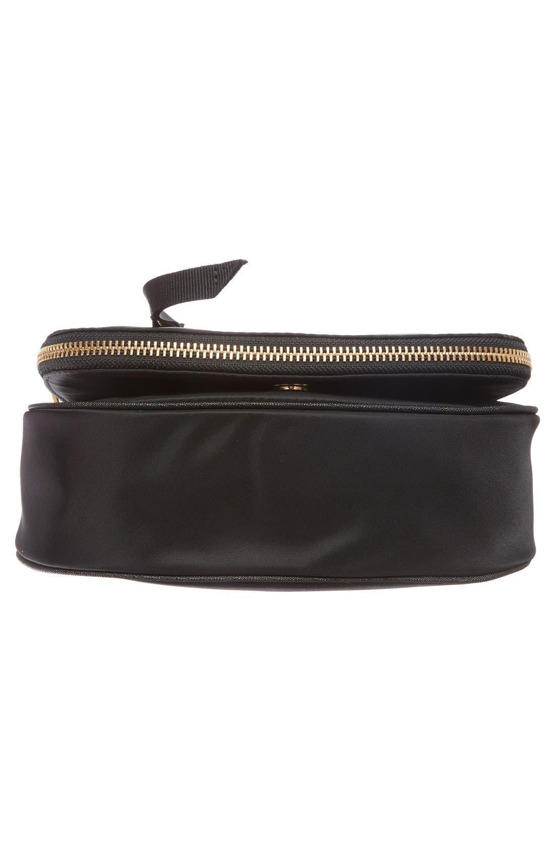 Trooper - Small Nomad Nylon Crossbody Bag,                             Alternate thumbnail 6, color,                             Black