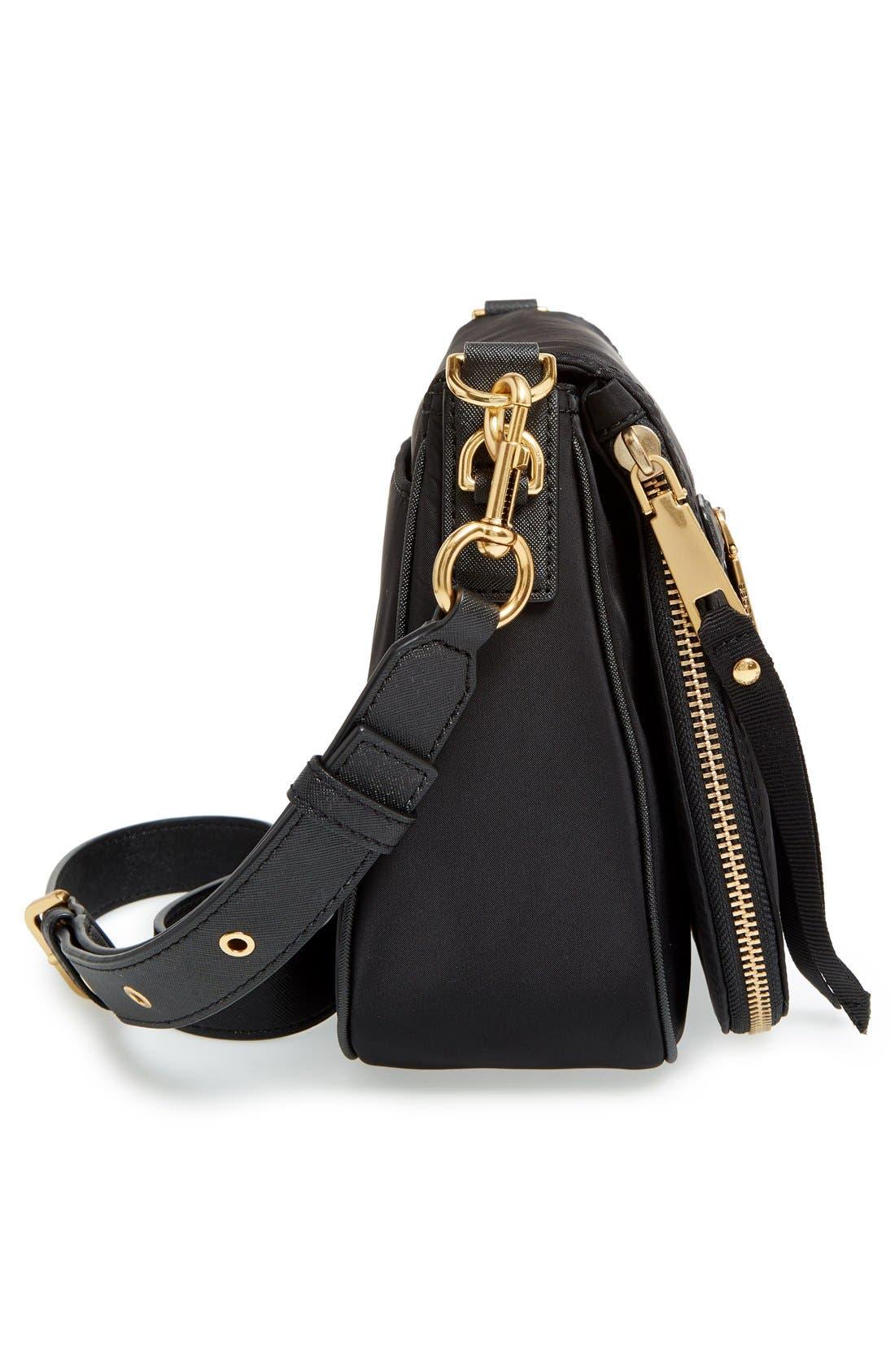 Trooper Nomad Nylon Saddle Bag,                             Alternate thumbnail 5, color,                             Black