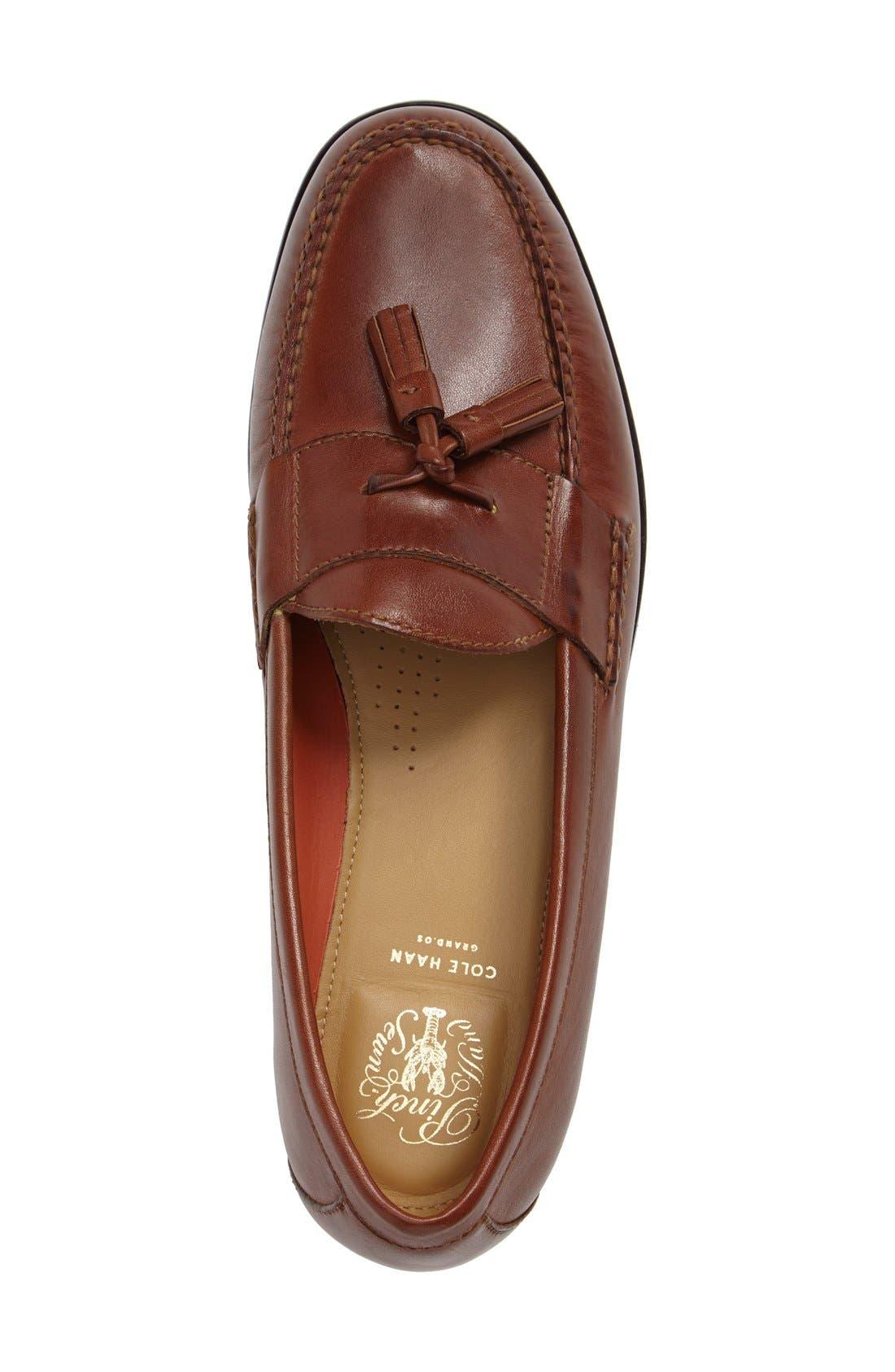 'Pinch Grand' Tassel Loafer,                             Alternate thumbnail 3, color,                             Papaya Leather