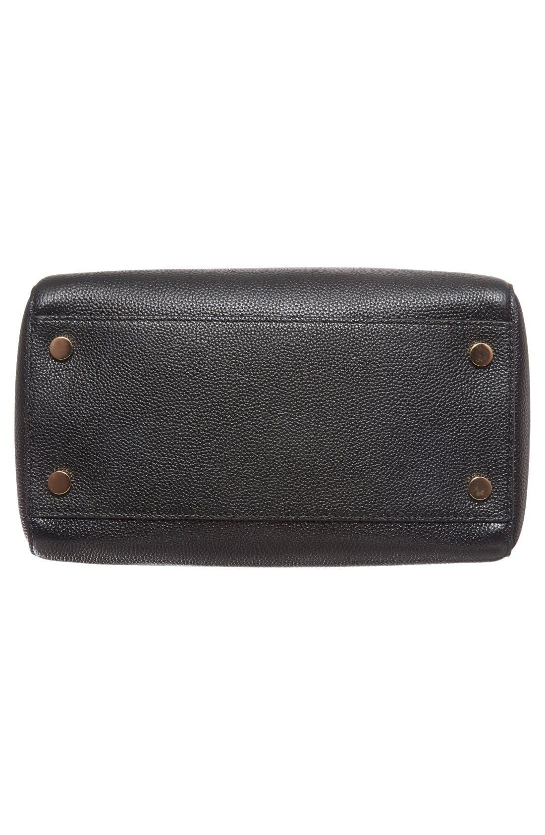 Medium Mercer Duffel Bag,                             Alternate thumbnail 6, color,                             Black/ Gold