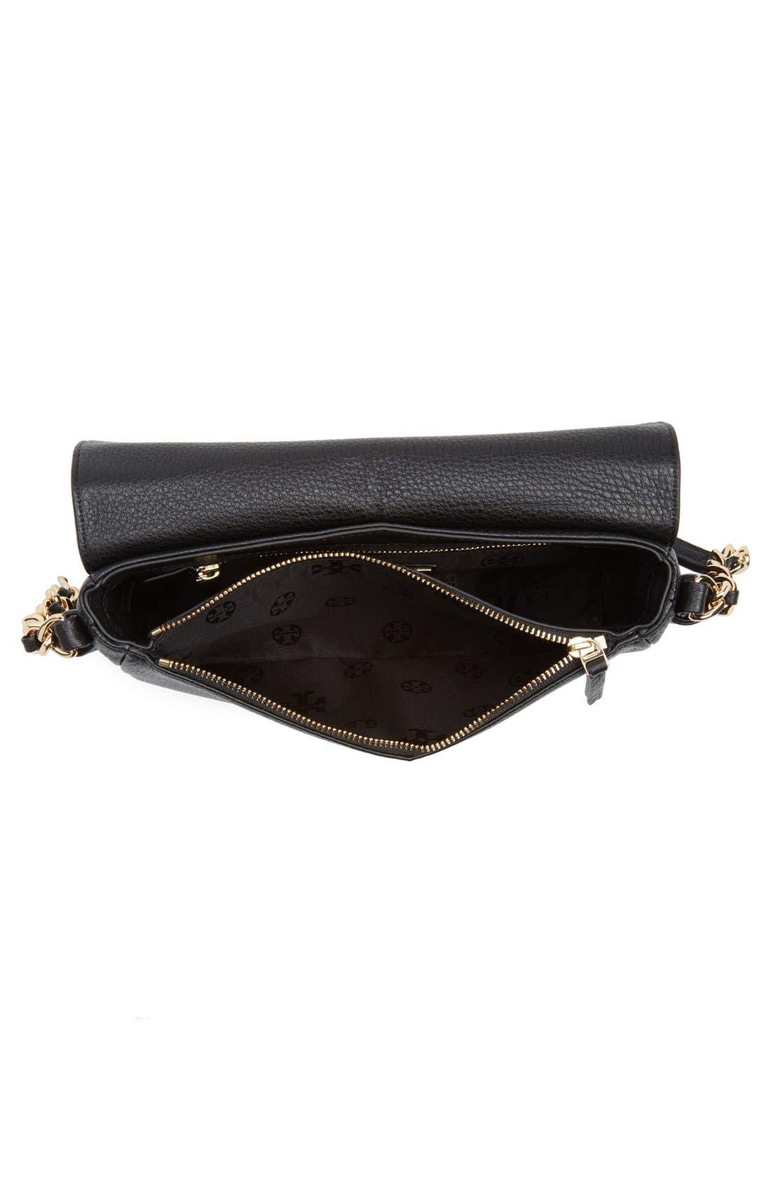 Mini Harper Leather Crossbody Bag,                             Alternate thumbnail 3, color,                             Black