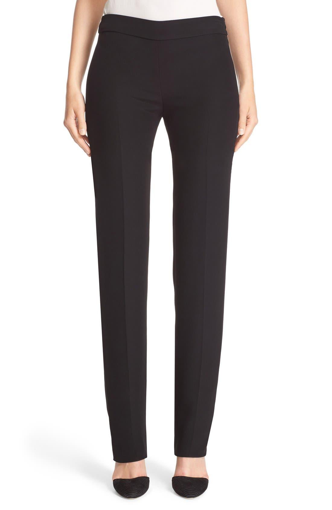 Armani Collezioni Side Zip Cady Pants