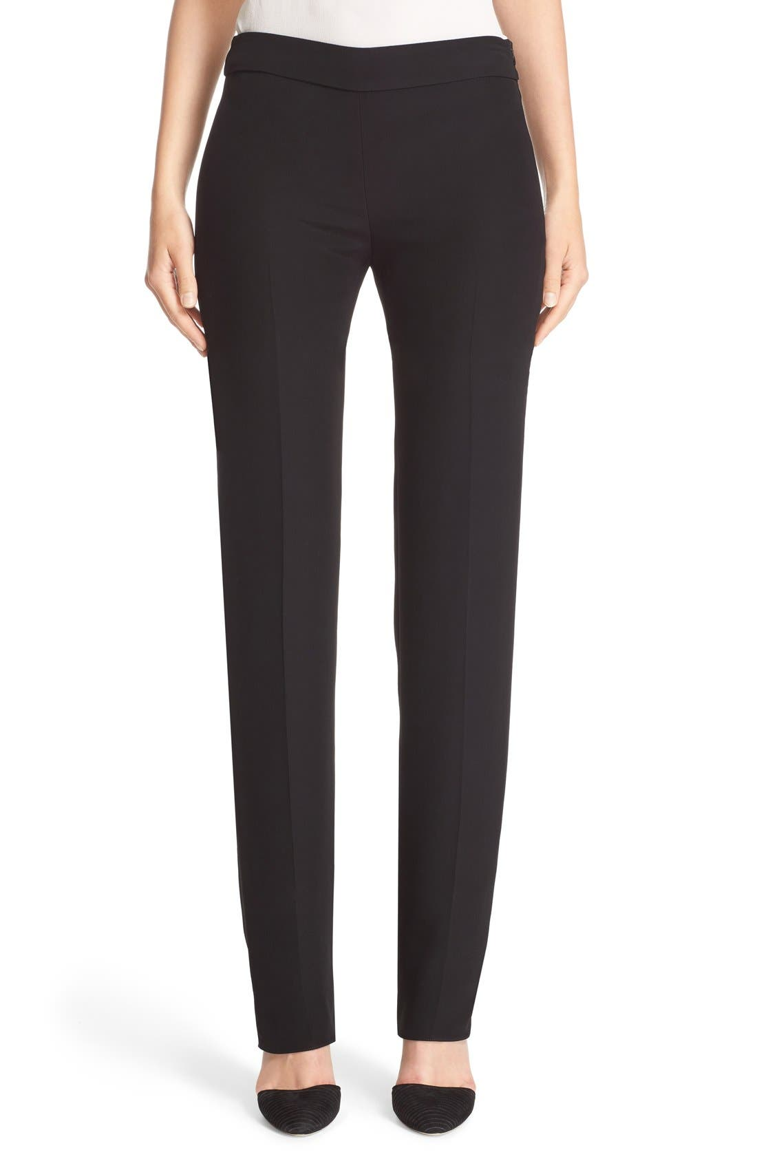 Side Zip Cady Pants,                             Main thumbnail 1, color,                             Black