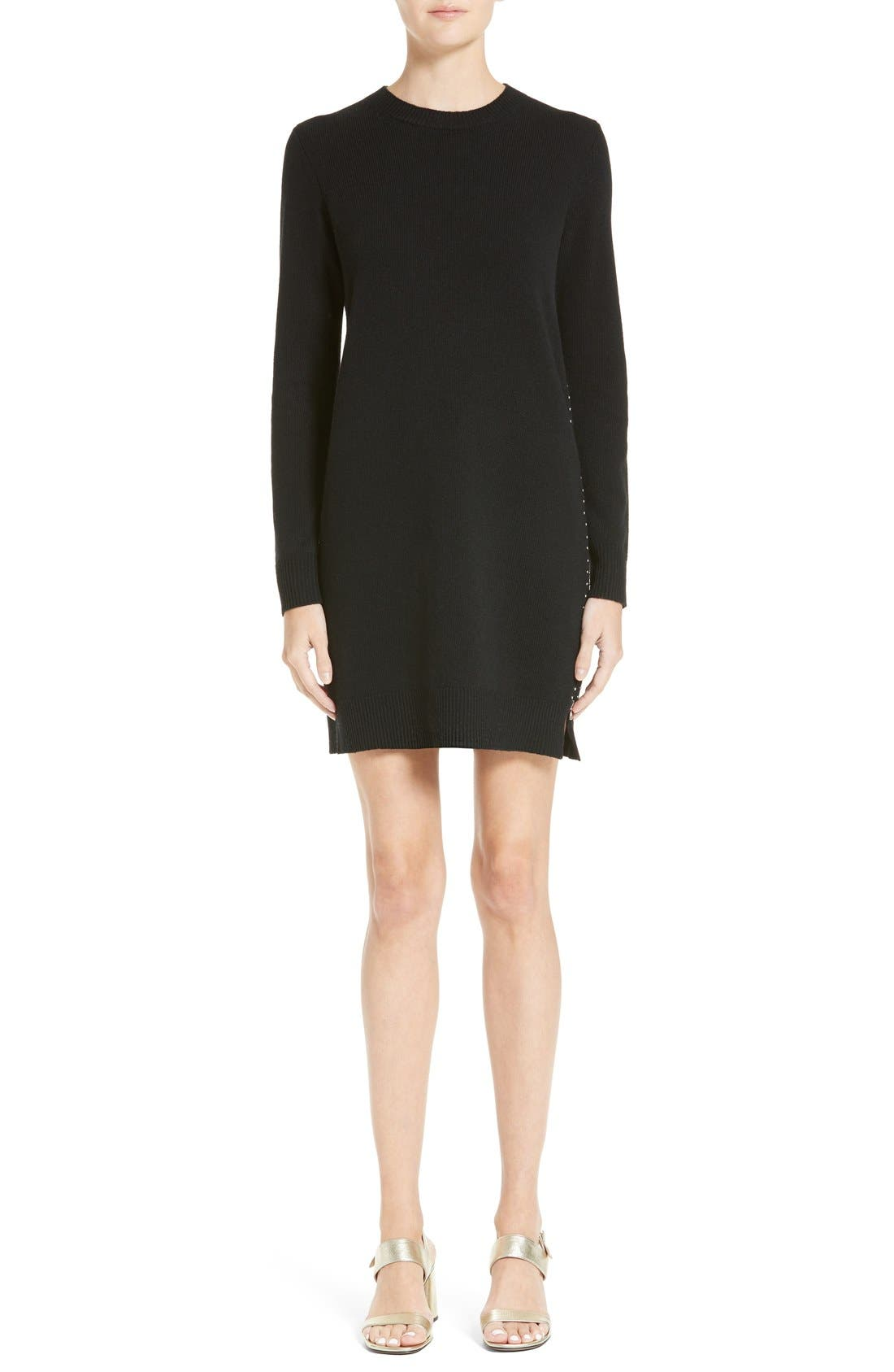MARC JACOBS Zipper Detail Wool Dress