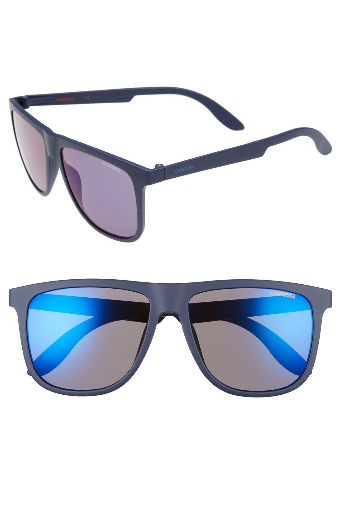 5003ST 57mm Sunglasses,                             Main thumbnail 1, color,                             Blue