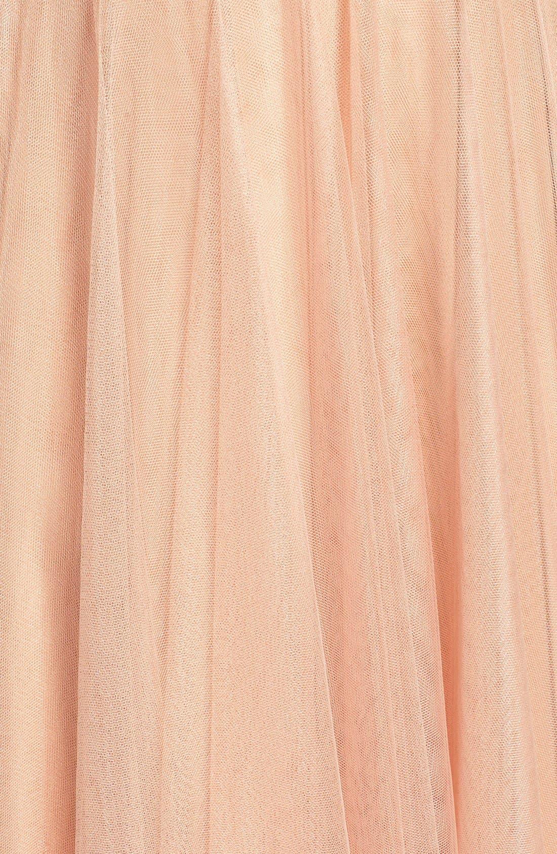 Brielle Tulle Gown,                             Alternate thumbnail 6, color,                             Blush