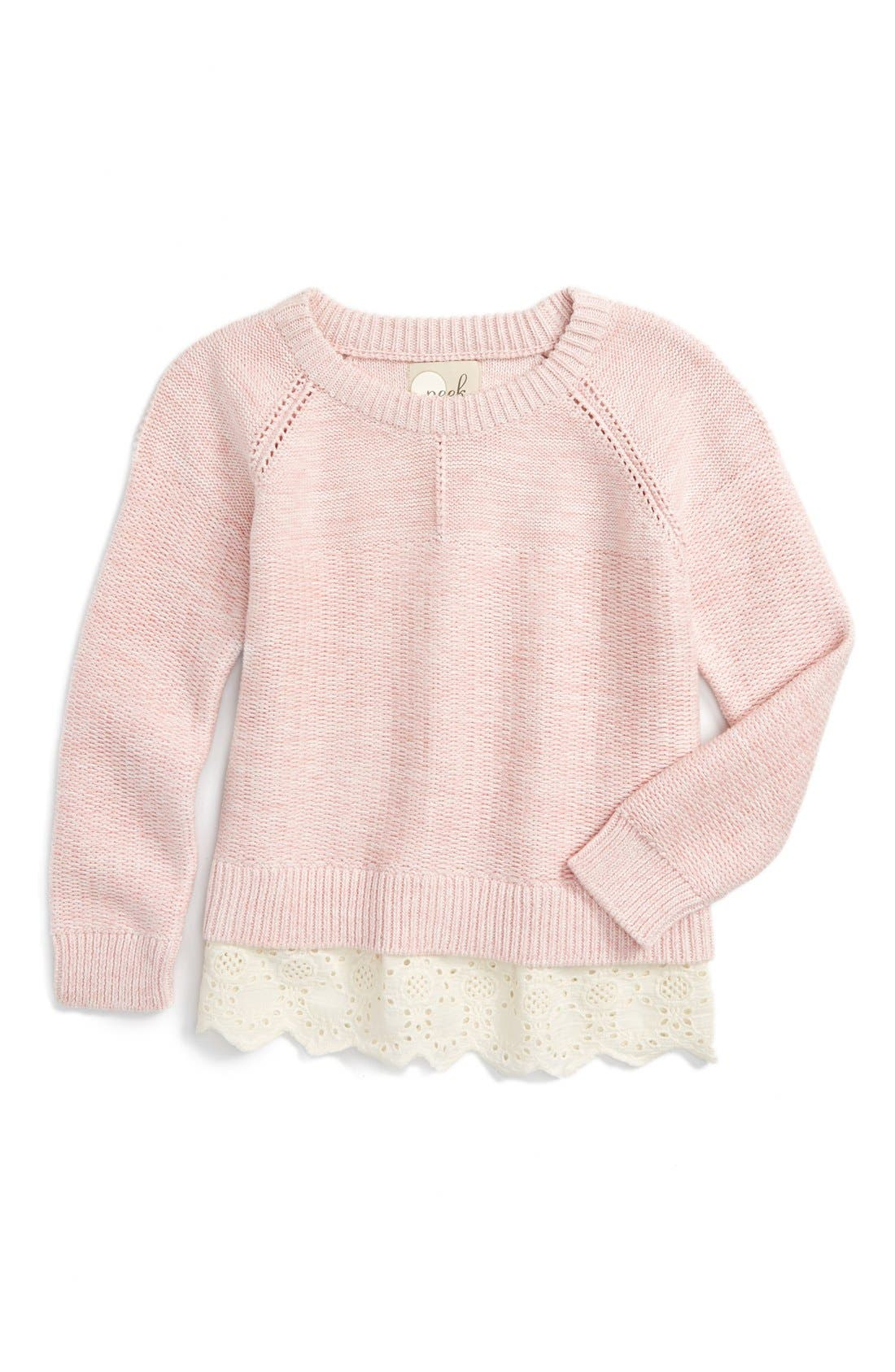 Alternate Image 1 Selected - Peek Lulu Sweater (Toddler Girls, Little Girls & Big Girls)