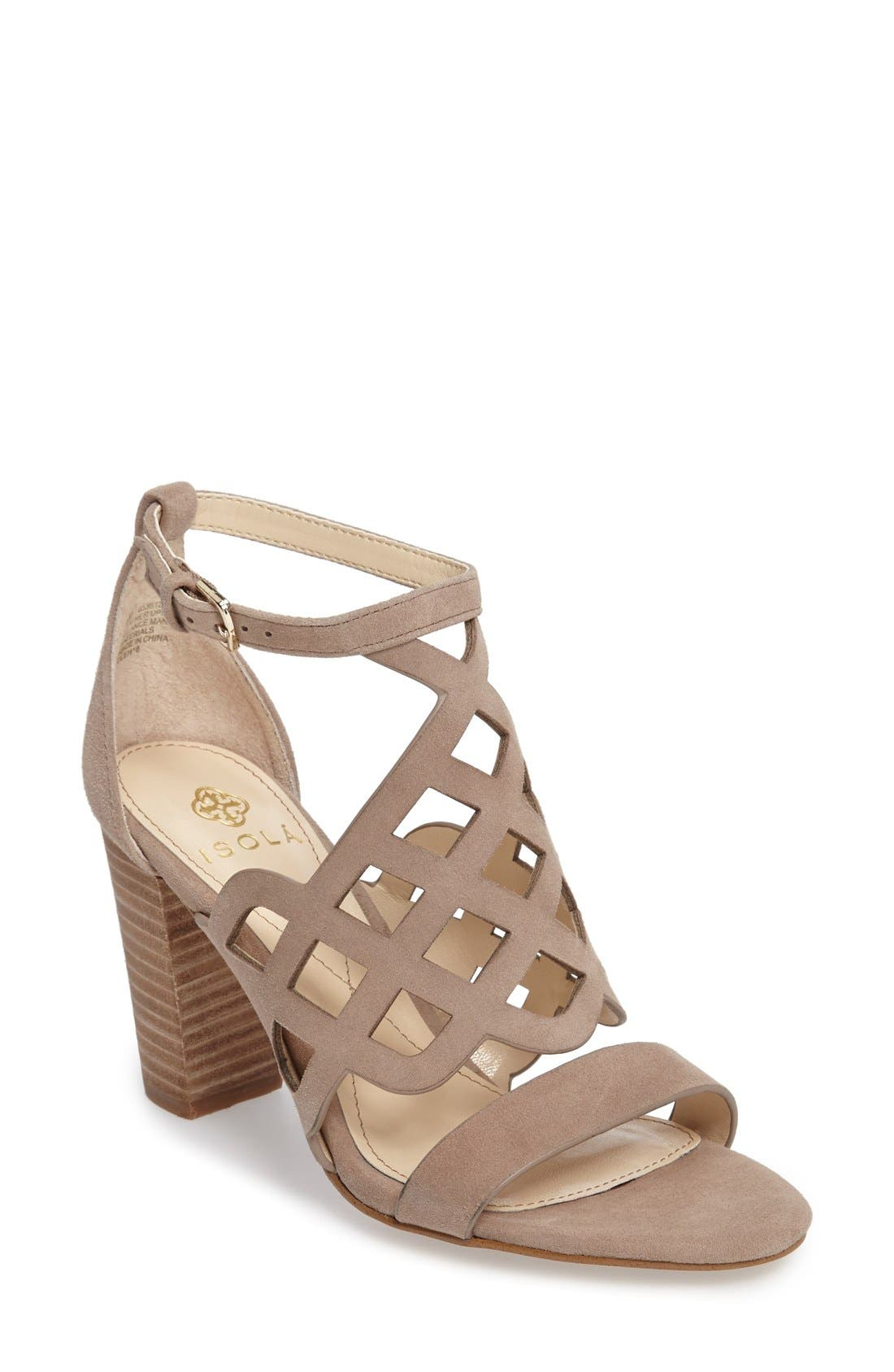 Alternate Image 1 Selected - Isolá Despina Cutout Ankle Strap Sandal (Women)