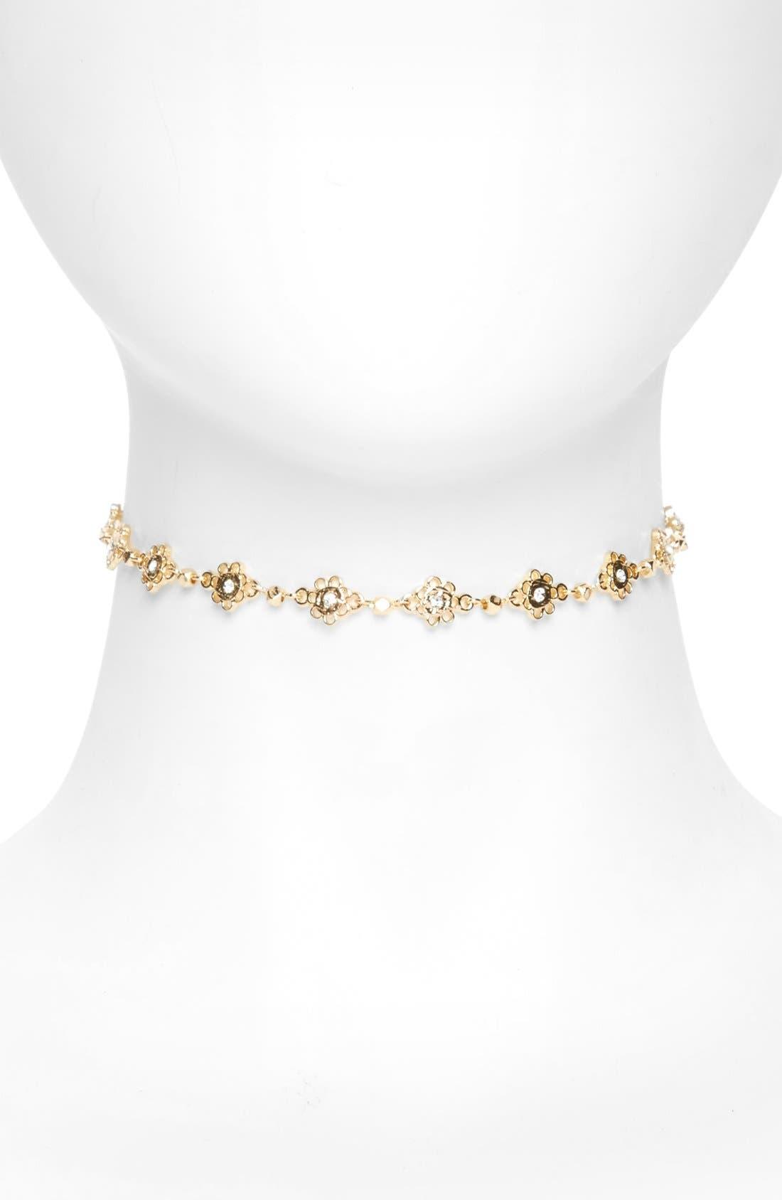 Main Image - BP. Metal Flower Choker Necklace