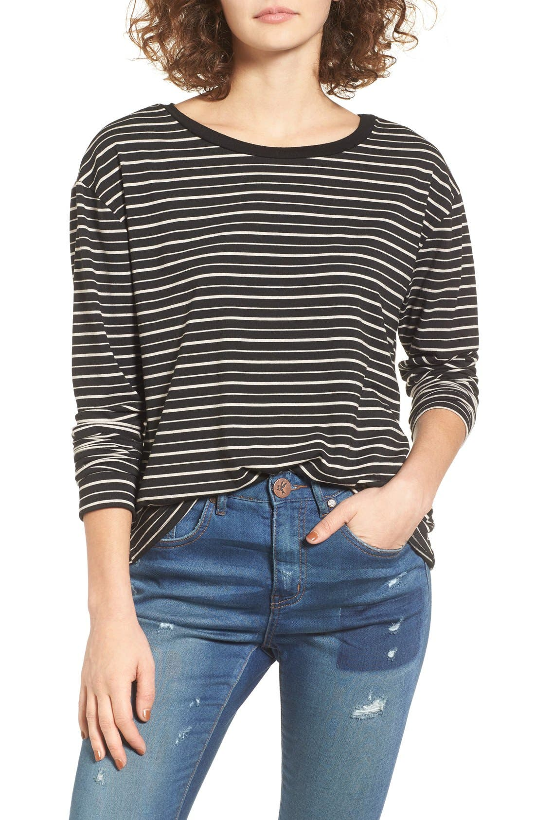 Alternate Image 1 Selected - Socialite Stripe Tee