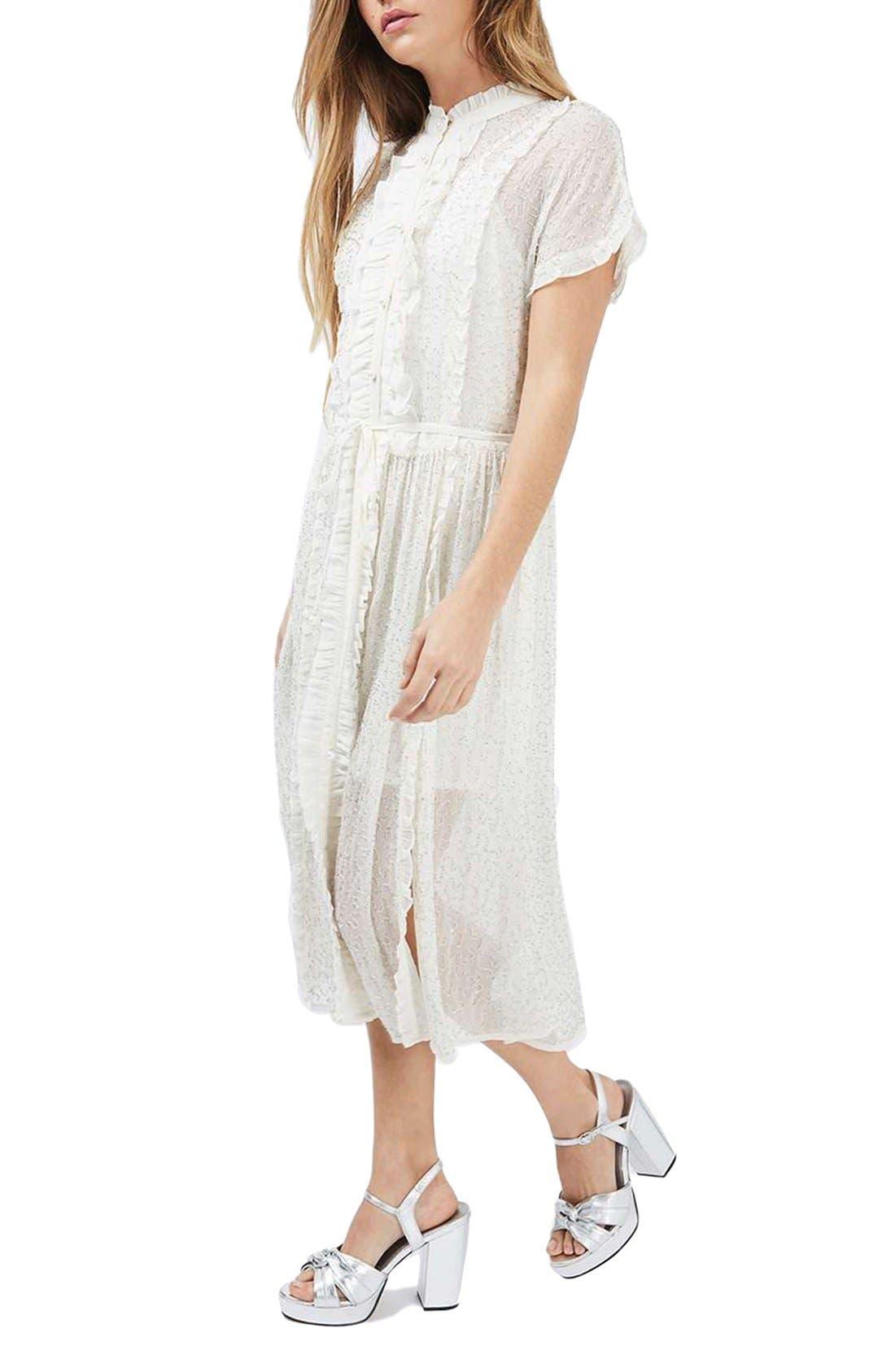 Alternate Image 1 Selected - Topshop Embellished Shirtdress