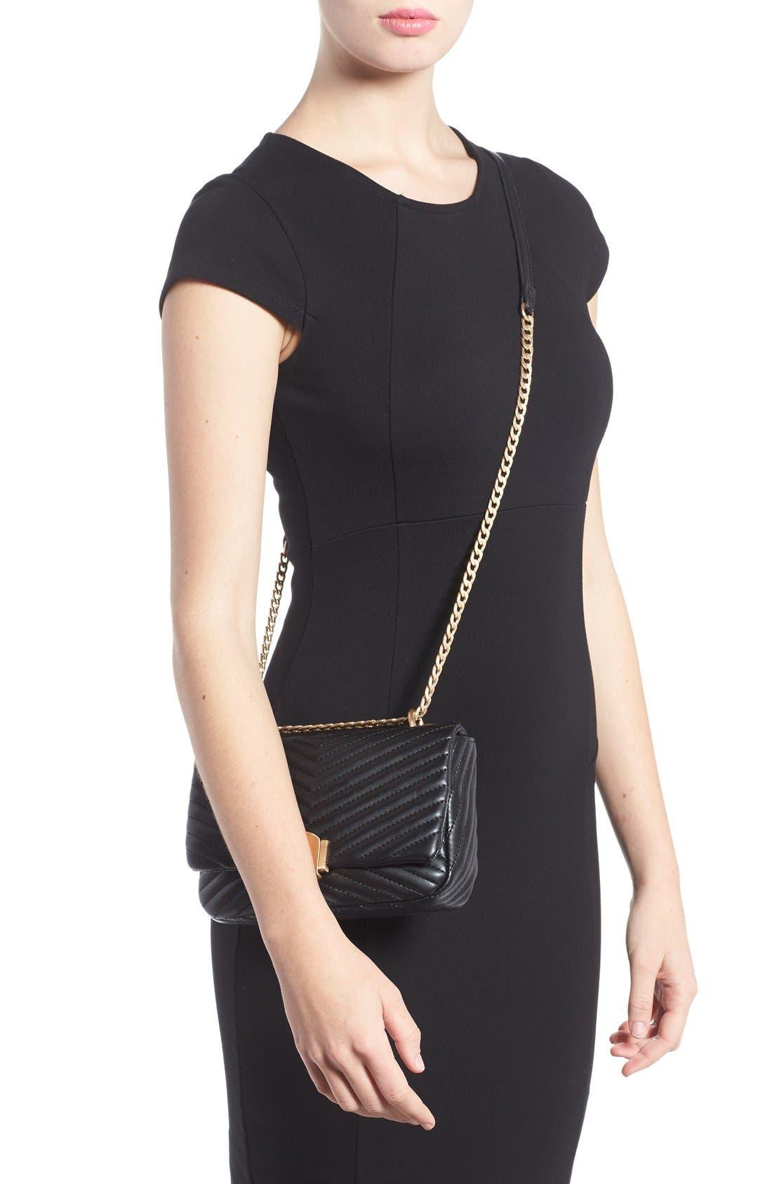 Alternate Image 2  - Topshop Quilted Crossbody Bag