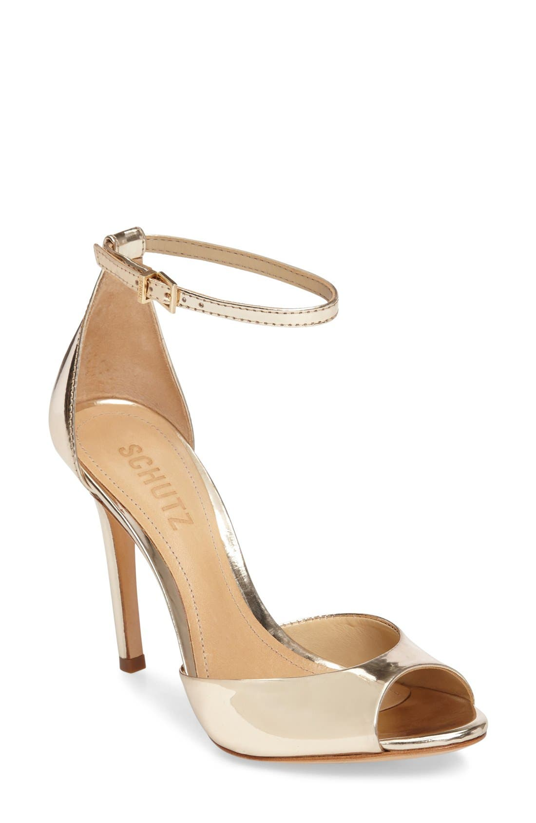 Alternate Image 1 Selected - Schutz Saasha Lee Ankle Strap Sandal (Women)