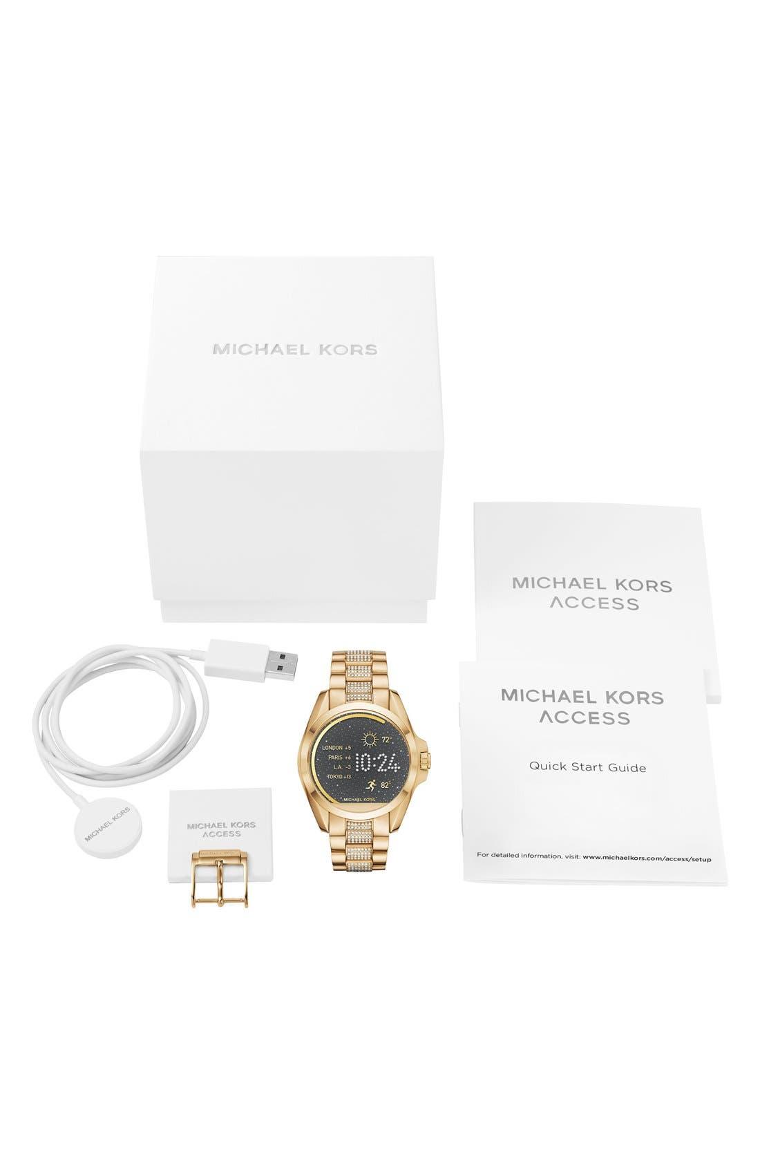 MICHAEL Michael Kors Bradshaw Access Bracelet Smart Watch, 45mm,                             Alternate thumbnail 4, color,                             Gold/ Silver