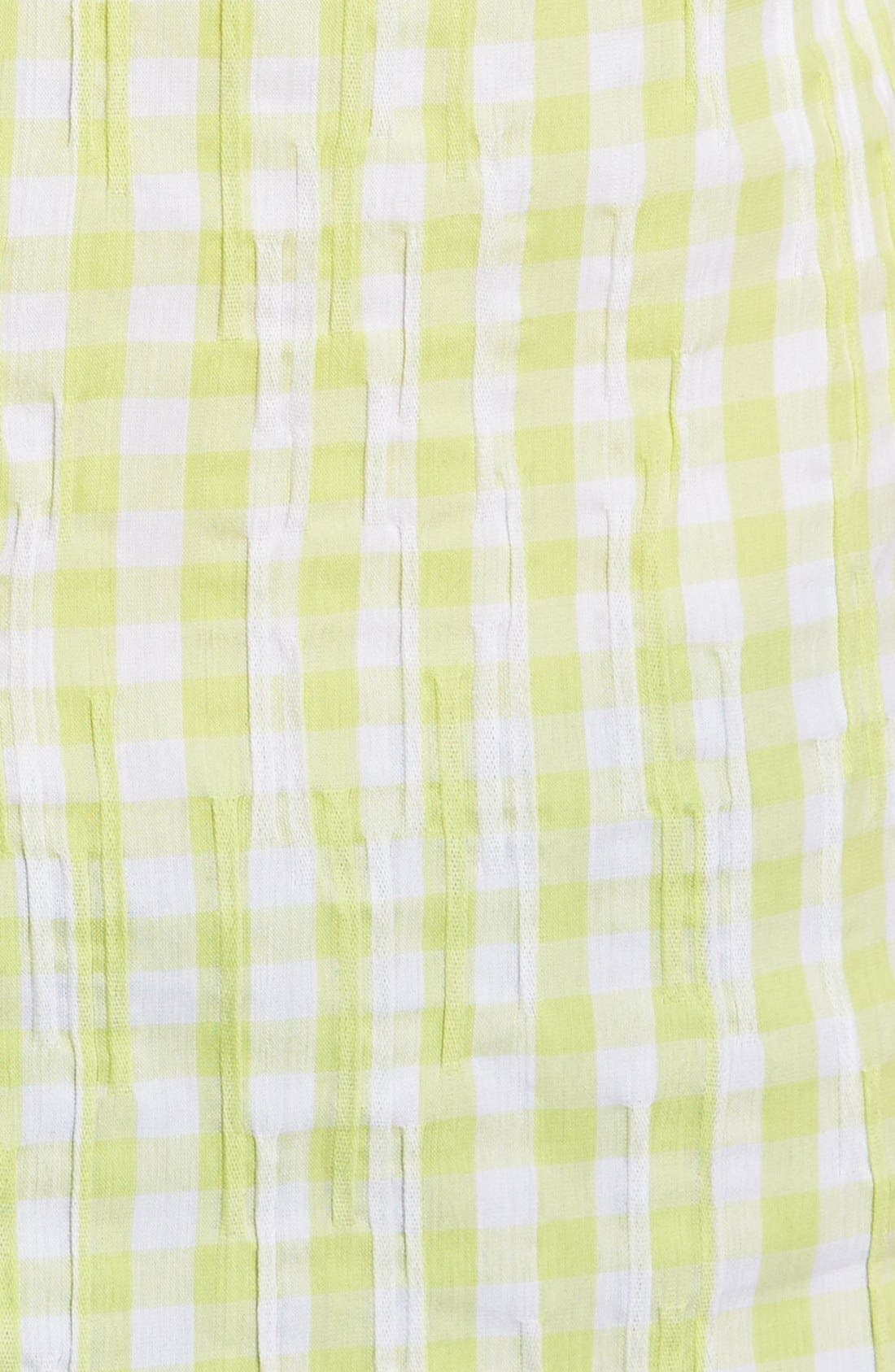 Alternate Image 5  - Foxcroft Crinkled Gingham Shirt (Regular & Petite)